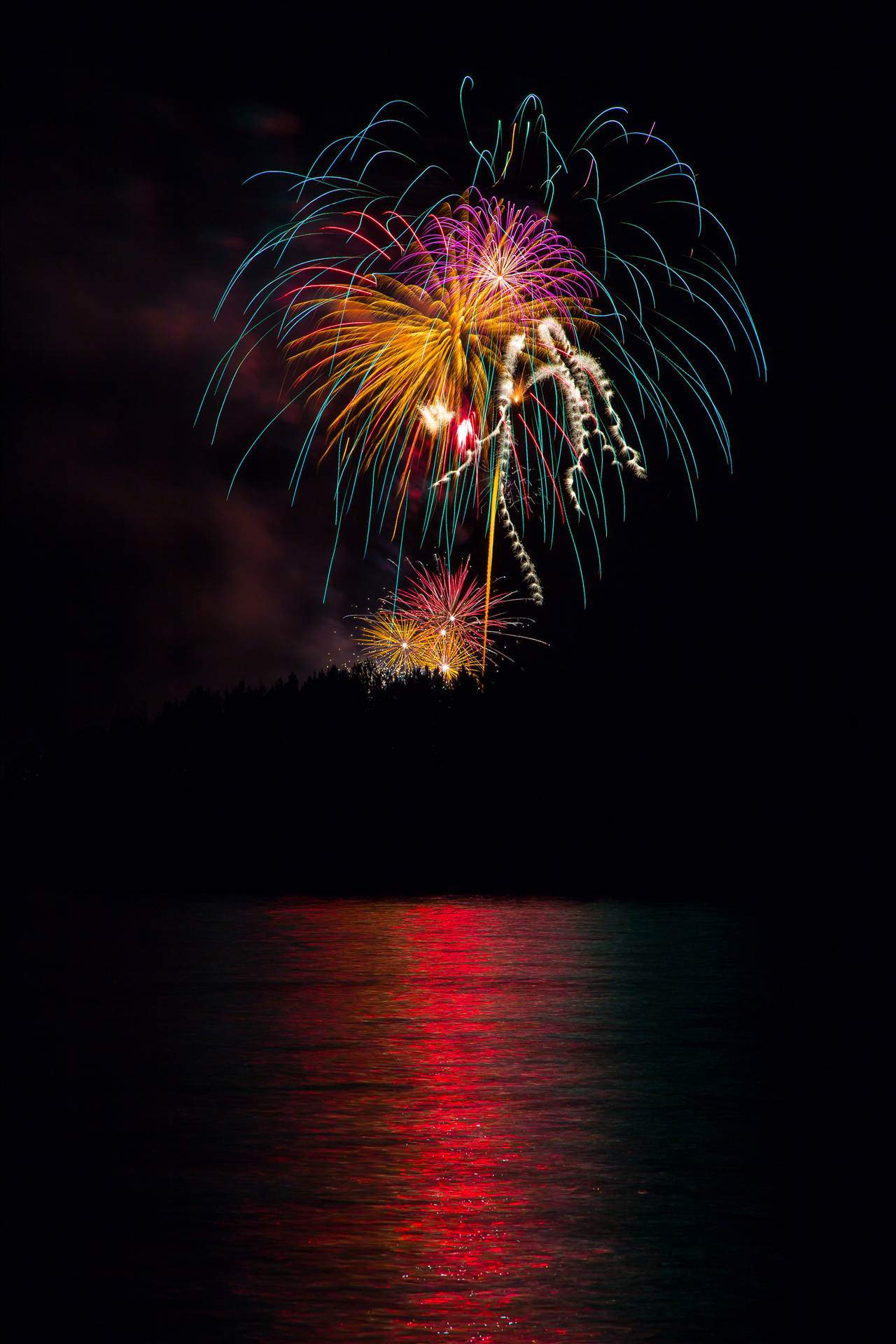 Dillon Reservoir Fireworks 2015 41 -  by D Scott Smith