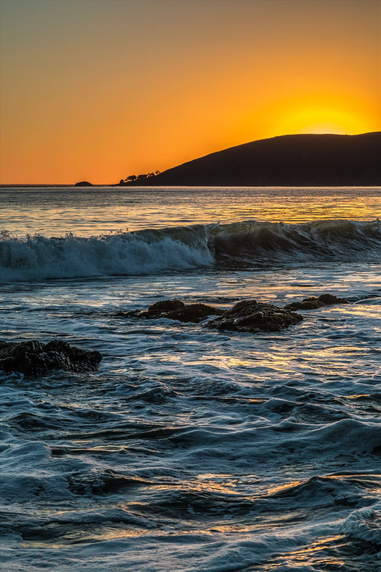 Sunset at Shell Beach 6 -  by D Scott Smith