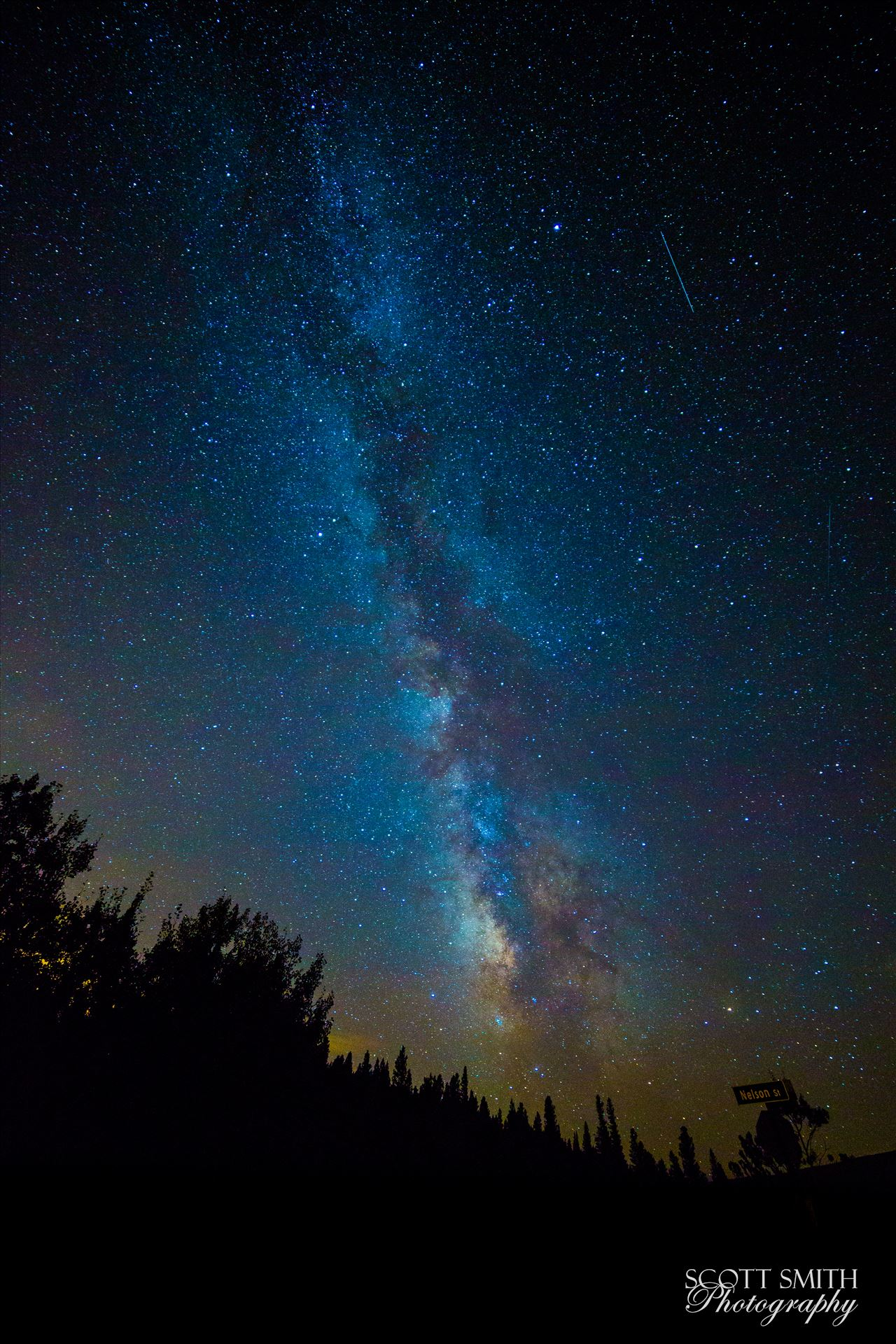 Milky Way and Perseids from Ward - Another shot of the Milky Way and the Perseid meteor shower, from Ward, Colorado. by D Scott Smith