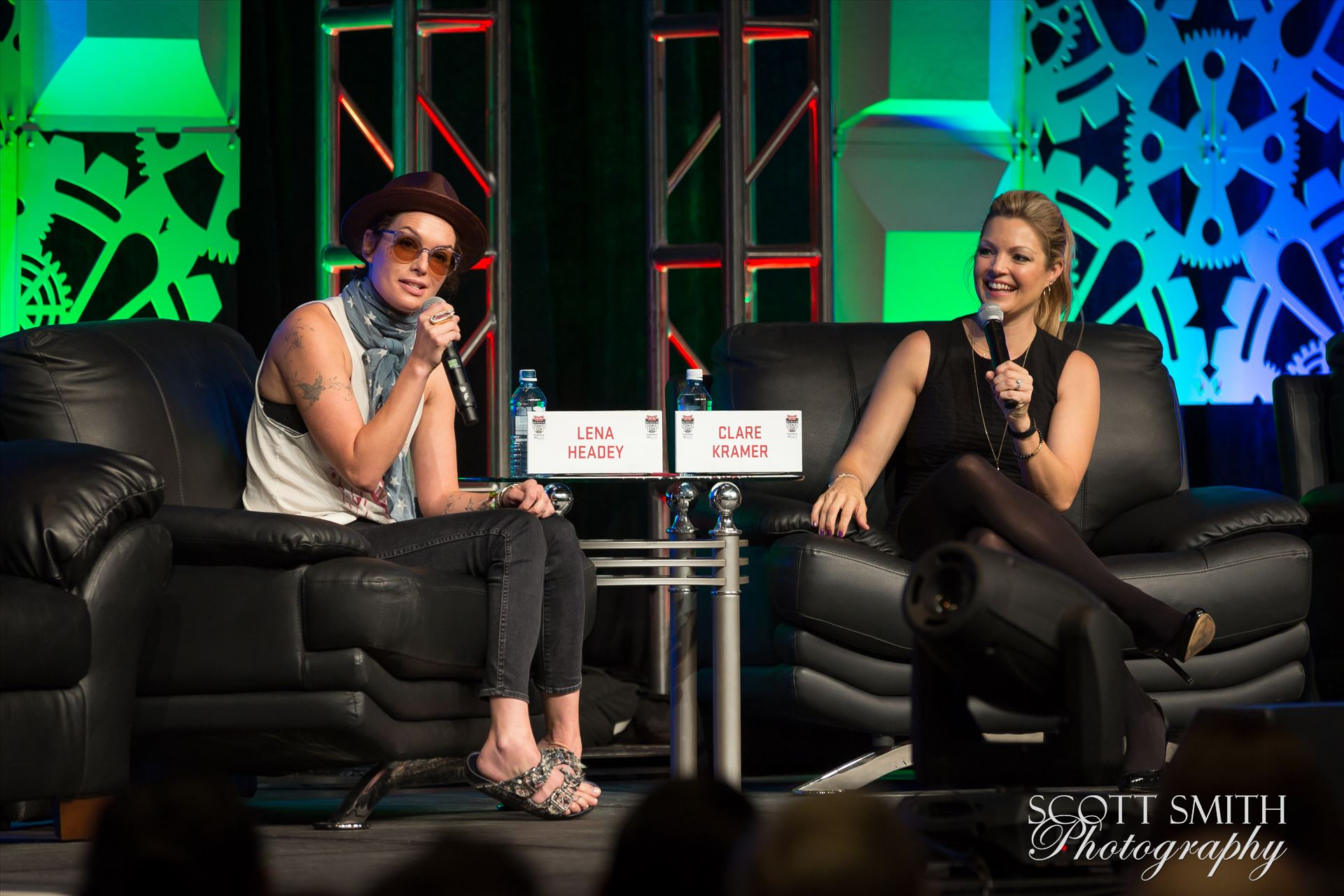 Denver Comic Con 2016 06 - Denver Comic Con 2016 at the Colorado Convention Center. Clare Kramer and Lena Headey. by D Scott Smith