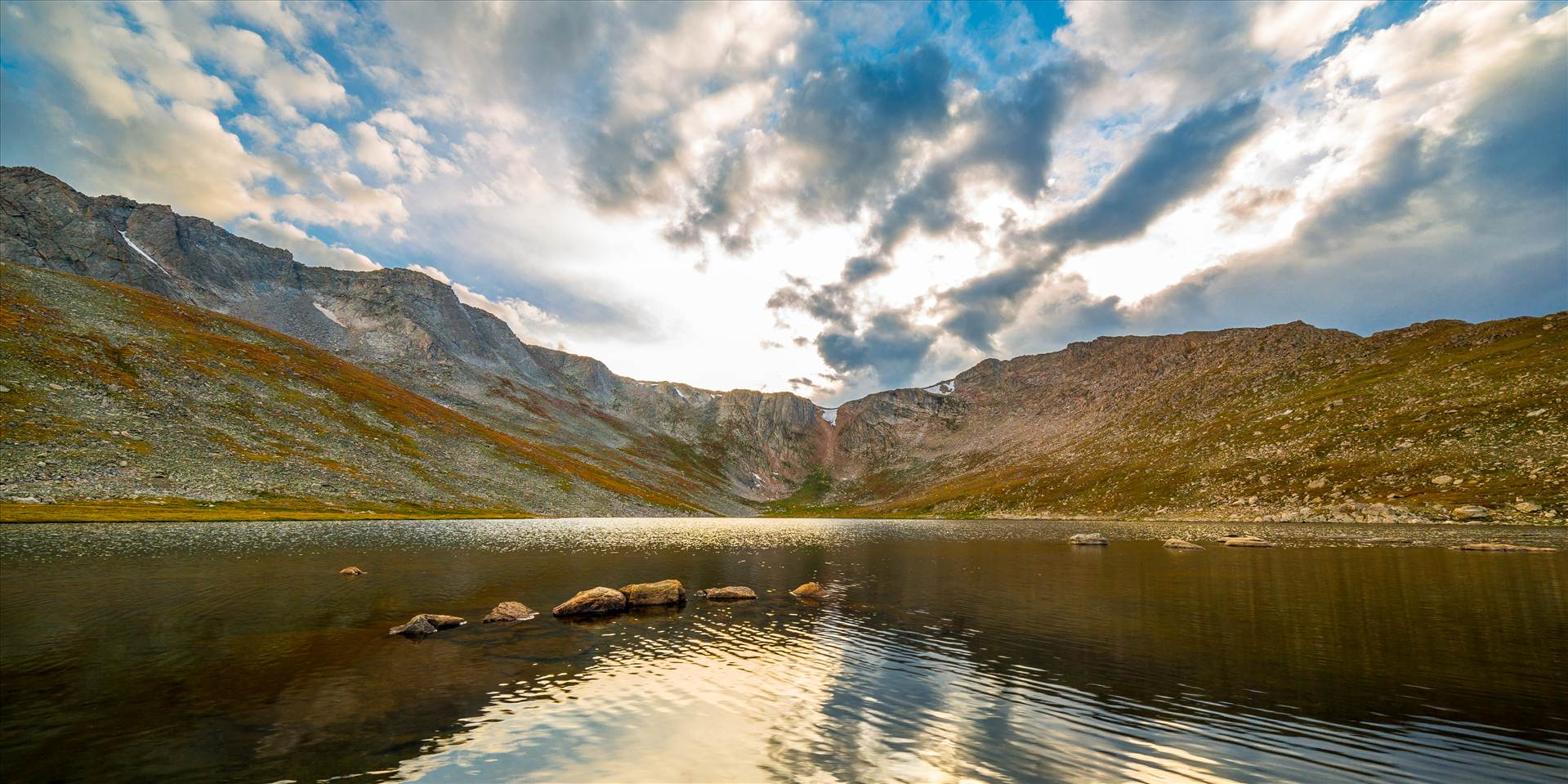 Summit Lake, Mt Evans - Summit Lake, near the summit of Mt Evans, Colorado. Available in wide (2:1) or typical (2:3) prints. by D Scott Smith