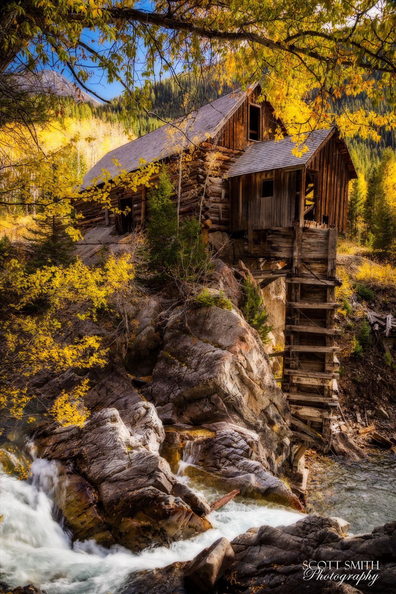 Crystal Mill, Colorado 12 - The Crystal Mill, or the Old Mill is an 1892 wooden powerhouse located on an outcrop above the Crystal River in Crystal, Colorado by D Scott Smith