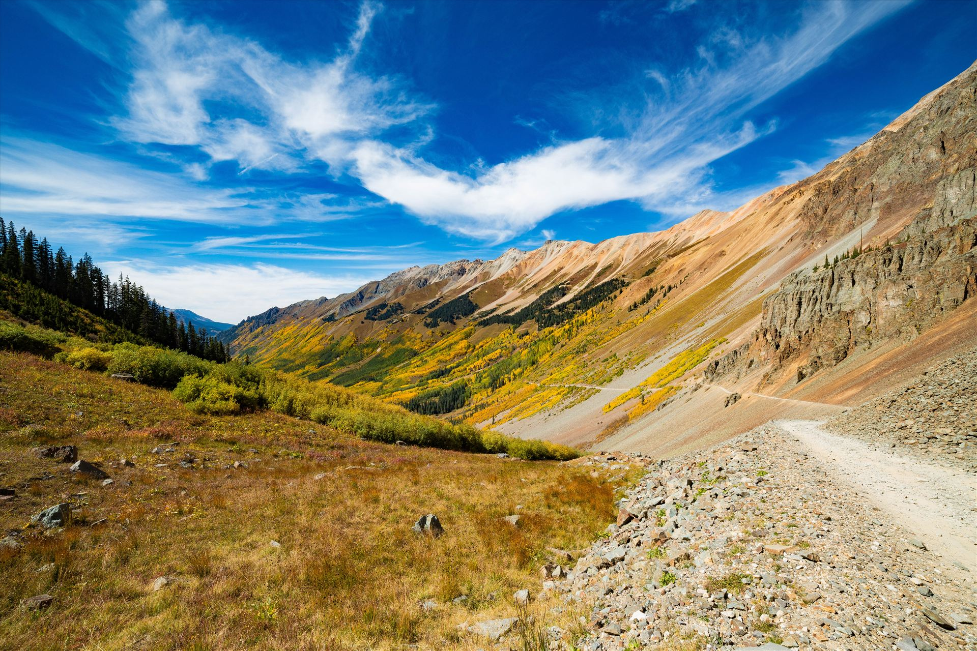 Ophir Pass 2 - Ophir Pass, between Ouray and Silverton Colorado in the fall. by D Scott Smith