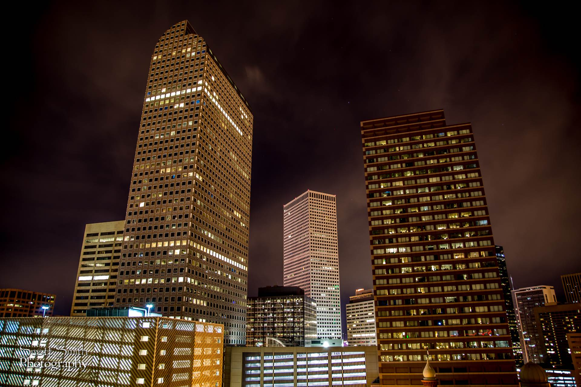 Denver at Night No 3 -  by D Scott Smith
