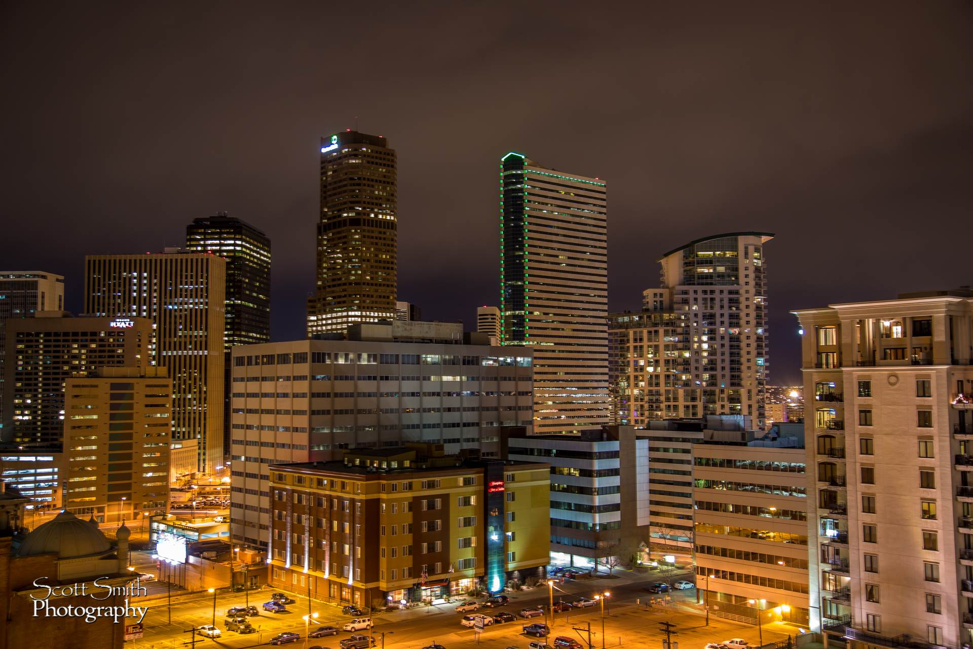 Denver at Night No 4 -  by D Scott Smith