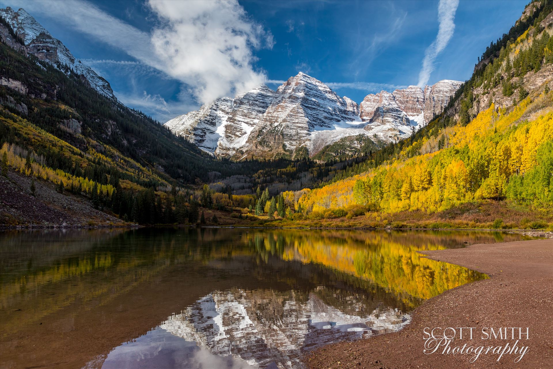 Maroon Bells 3 - The Maroon Bells, Saturday 9/29/17. by D Scott Smith