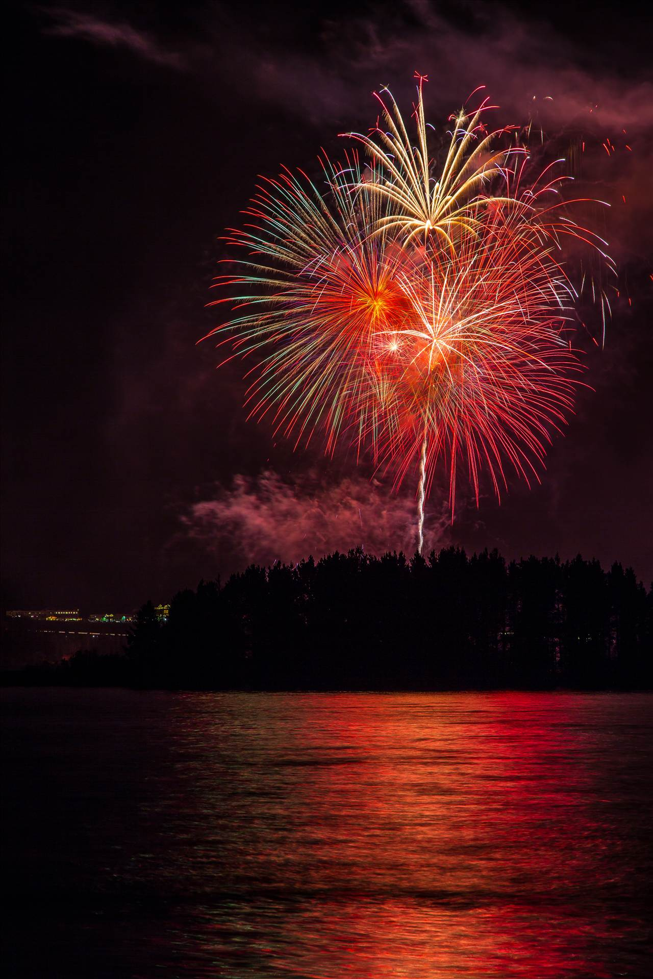 Dillon Reservoir Fireworks 2015 47 -  by D Scott Smith