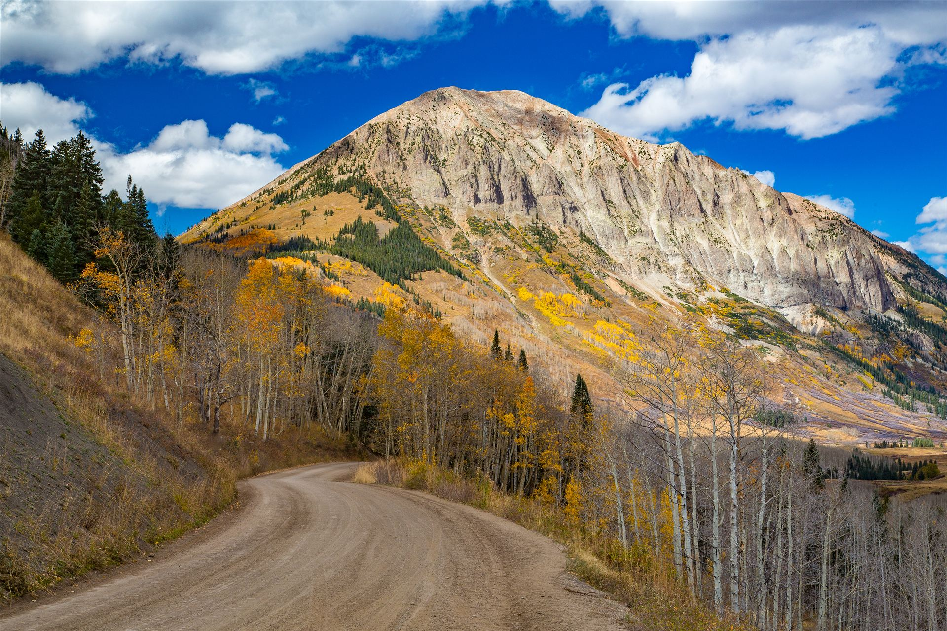 Gothic Road 2 - The view from Gothic Road heading north of Mt Crested Butte in October. by D Scott Smith