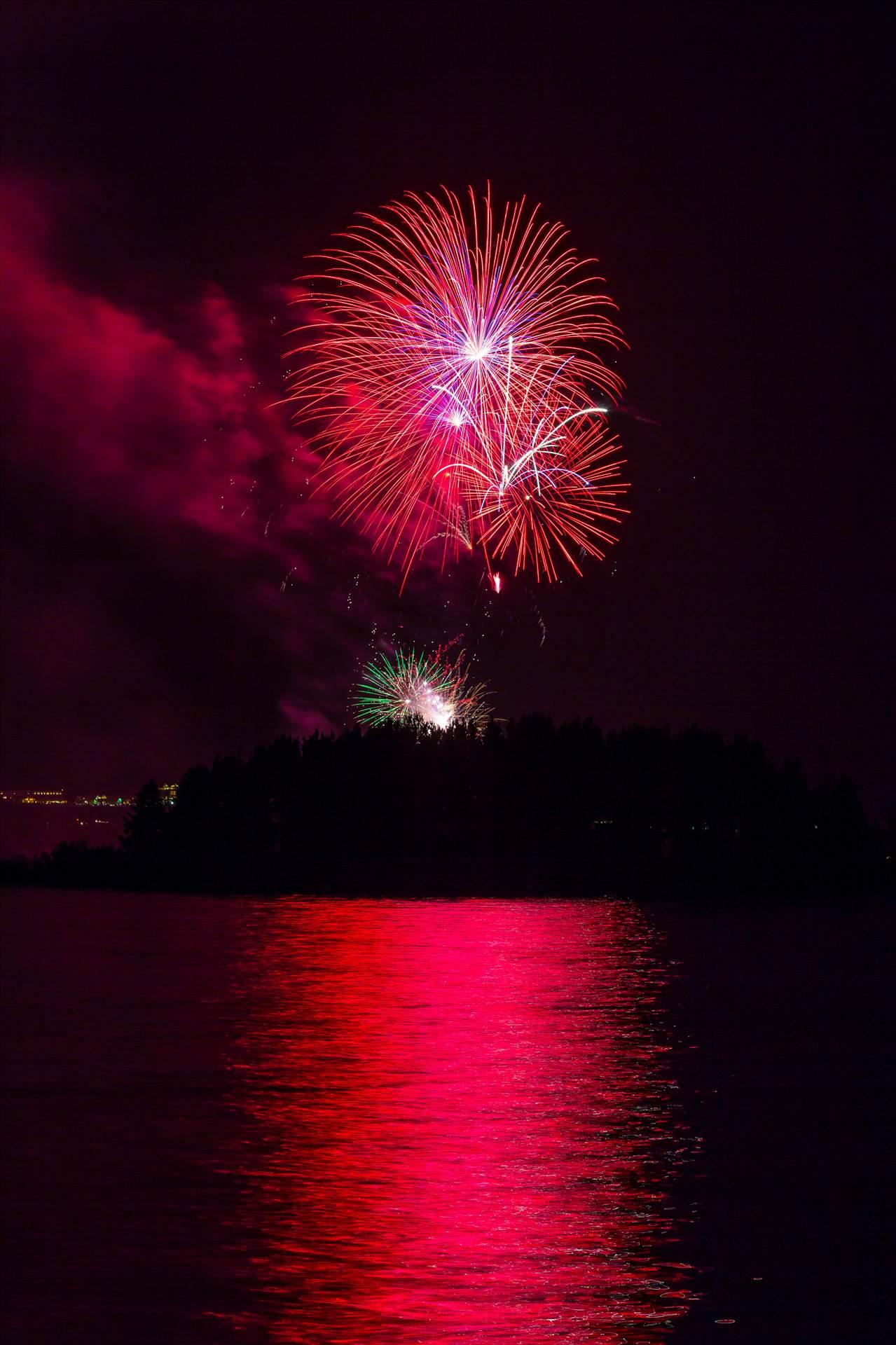 Dillon Reservoir Fireworks 2015 40 -  by D Scott Smith