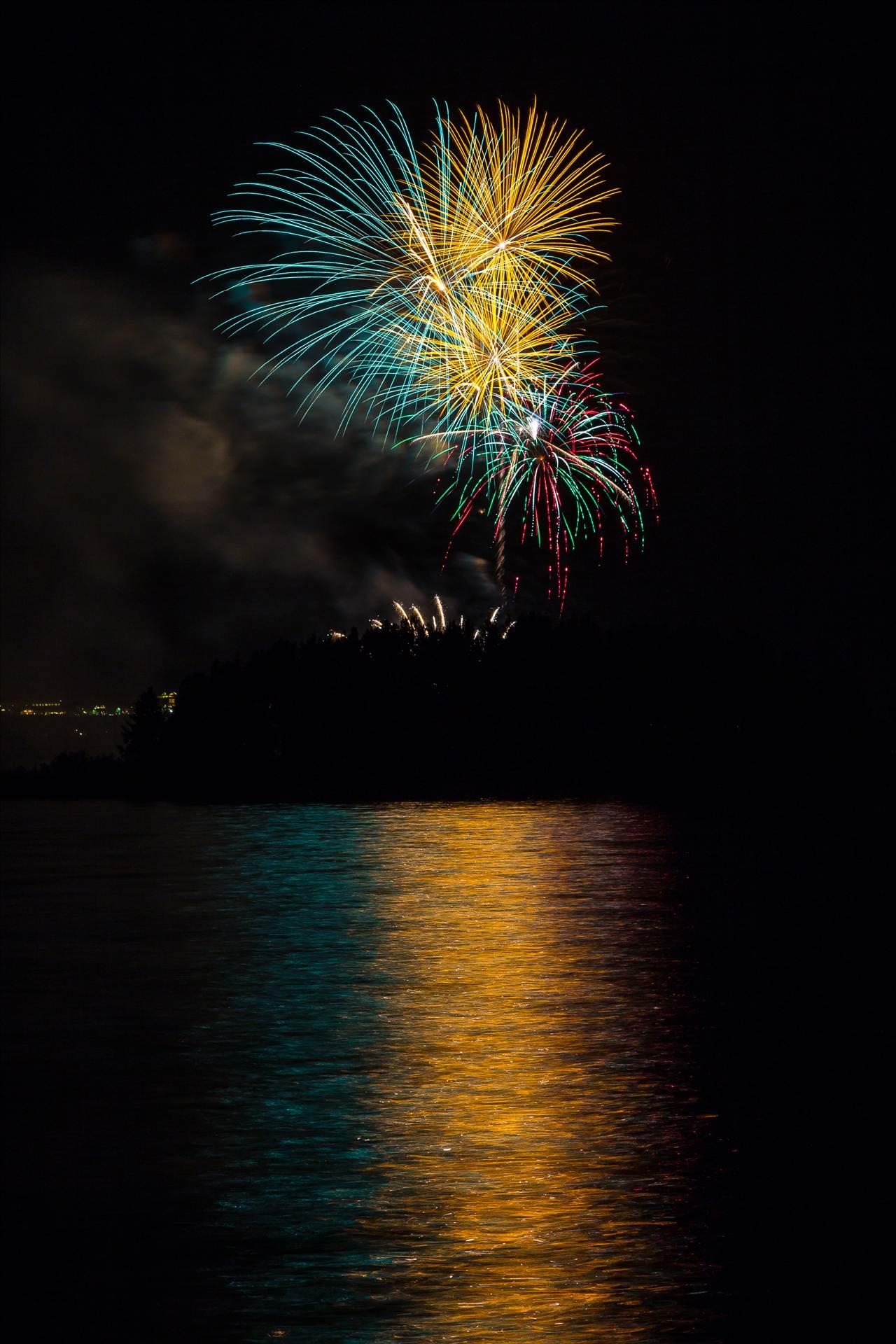 Dillon Reservoir Fireworks 2015 29 -  by D Scott Smith