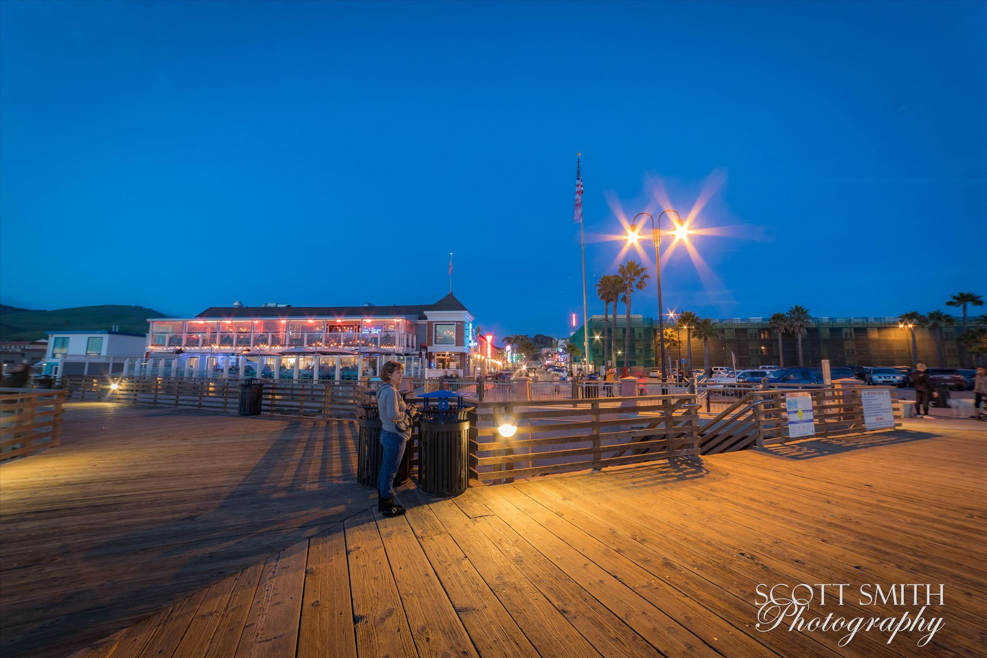 Sarah on the Pier -  by D Scott Smith