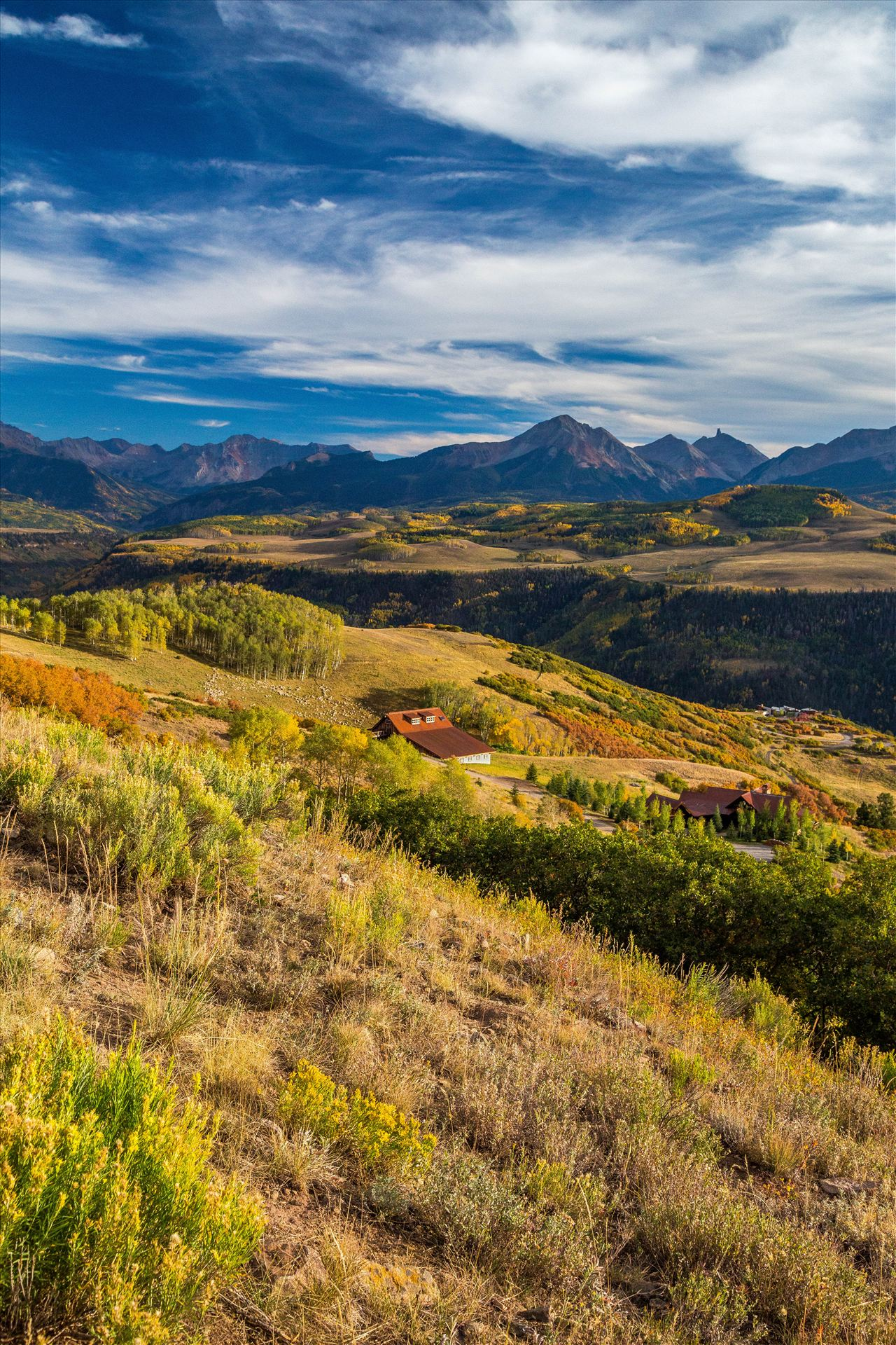 Last Dollar Road Ranch - A ranch on Last Dollar Road, outside of Telluride, Colorado in the fall. by D Scott Smith