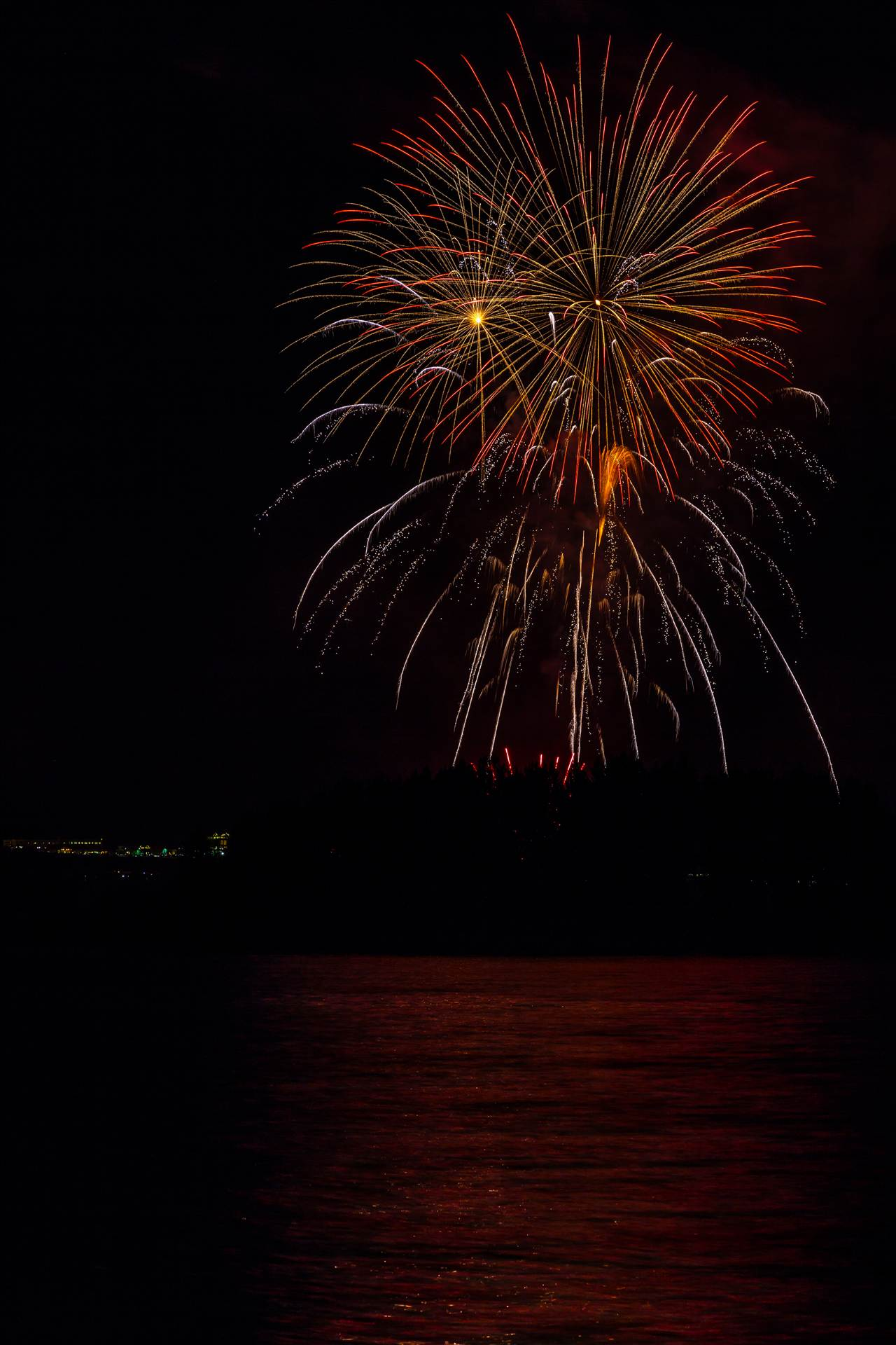 Dillon Reservoir Fireworks 2015 50 -  by D Scott Smith