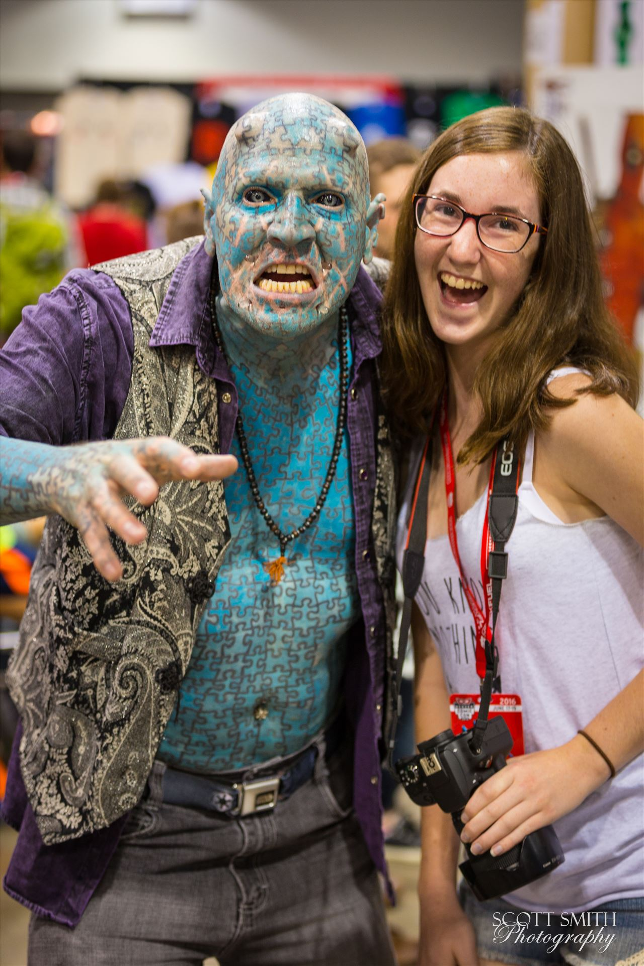 Denver Comic Con 2016 32 - Denver Comic Con 2016 at the Colorado Convention Center. The Enigma with my daughter. by D Scott Smith