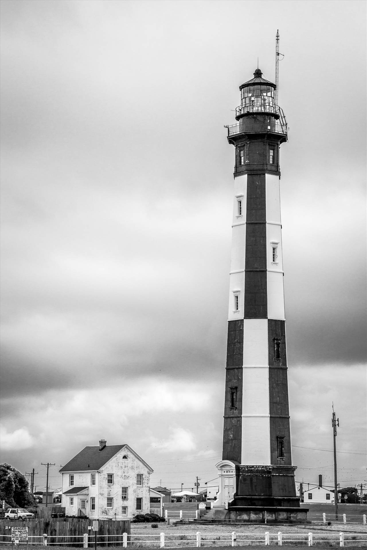 New Cape Henry Lighthouse No 1 - The new Cape Henry Lighthouse, in Virginia. by D Scott Smith