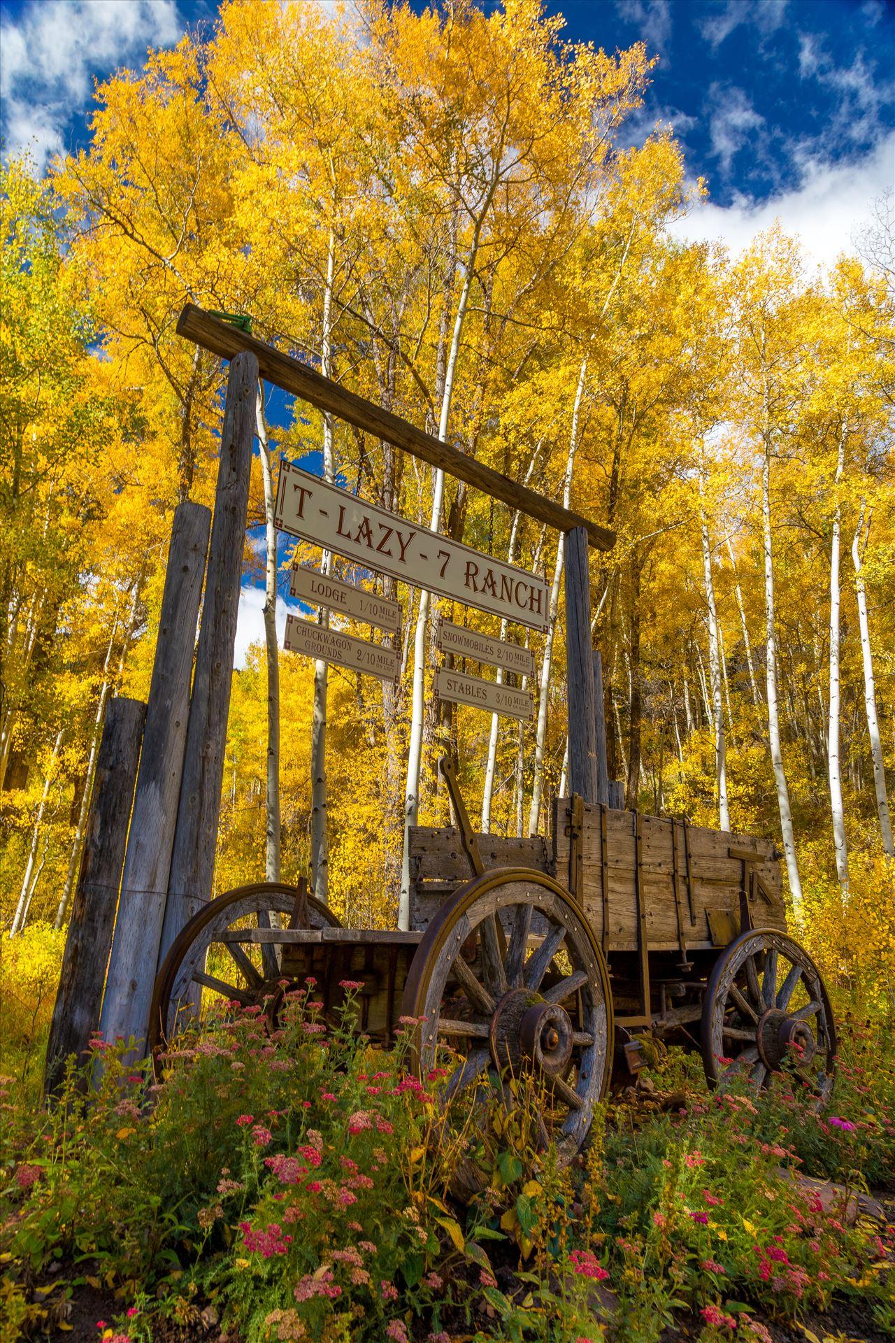 T-Lazy 7 Ranch - The T-Lazy 7 Ranch on Maroon Drive near Aspen, Colorado. by D Scott Smith