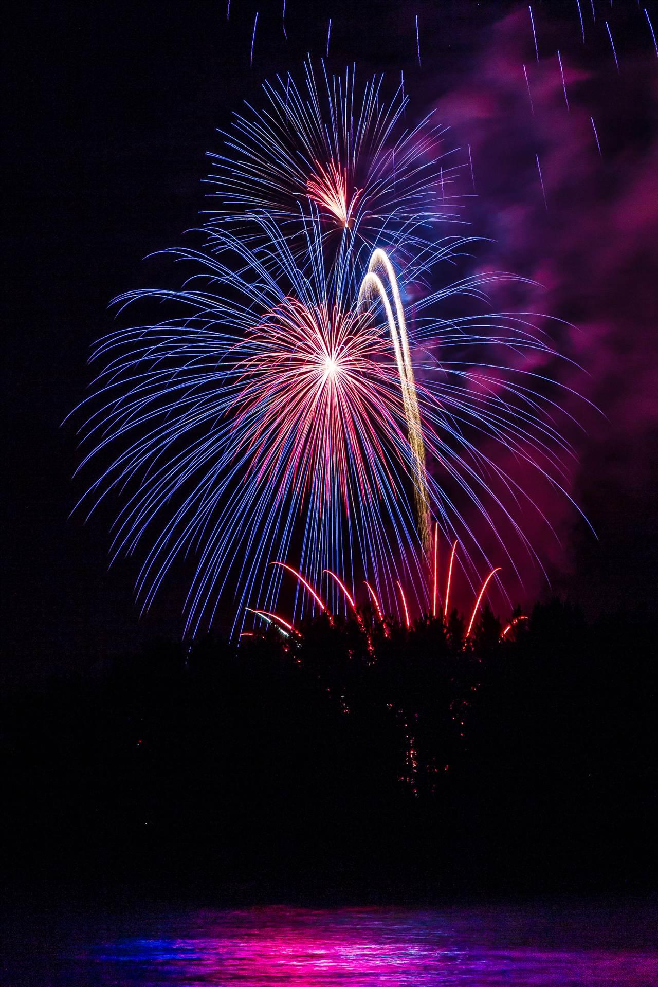 Dillon Reservoir Fireworks 2015 8 -  by D Scott Smith