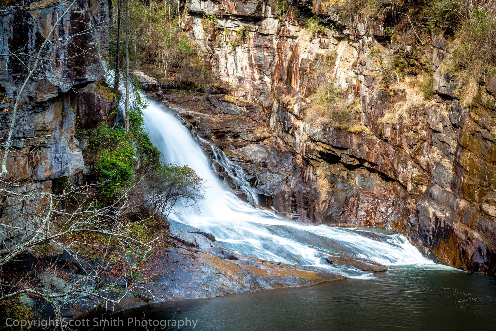 Tallulah Gorge Falls -  by D Scott Smith