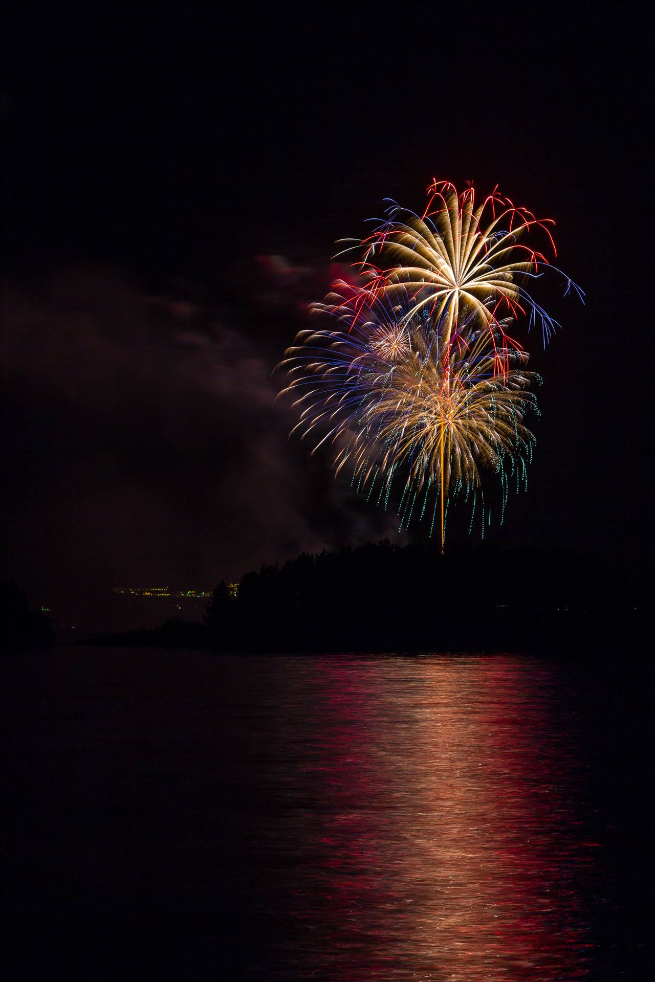 Dillon Reservoir Fireworks 2015 31 -  by D Scott Smith