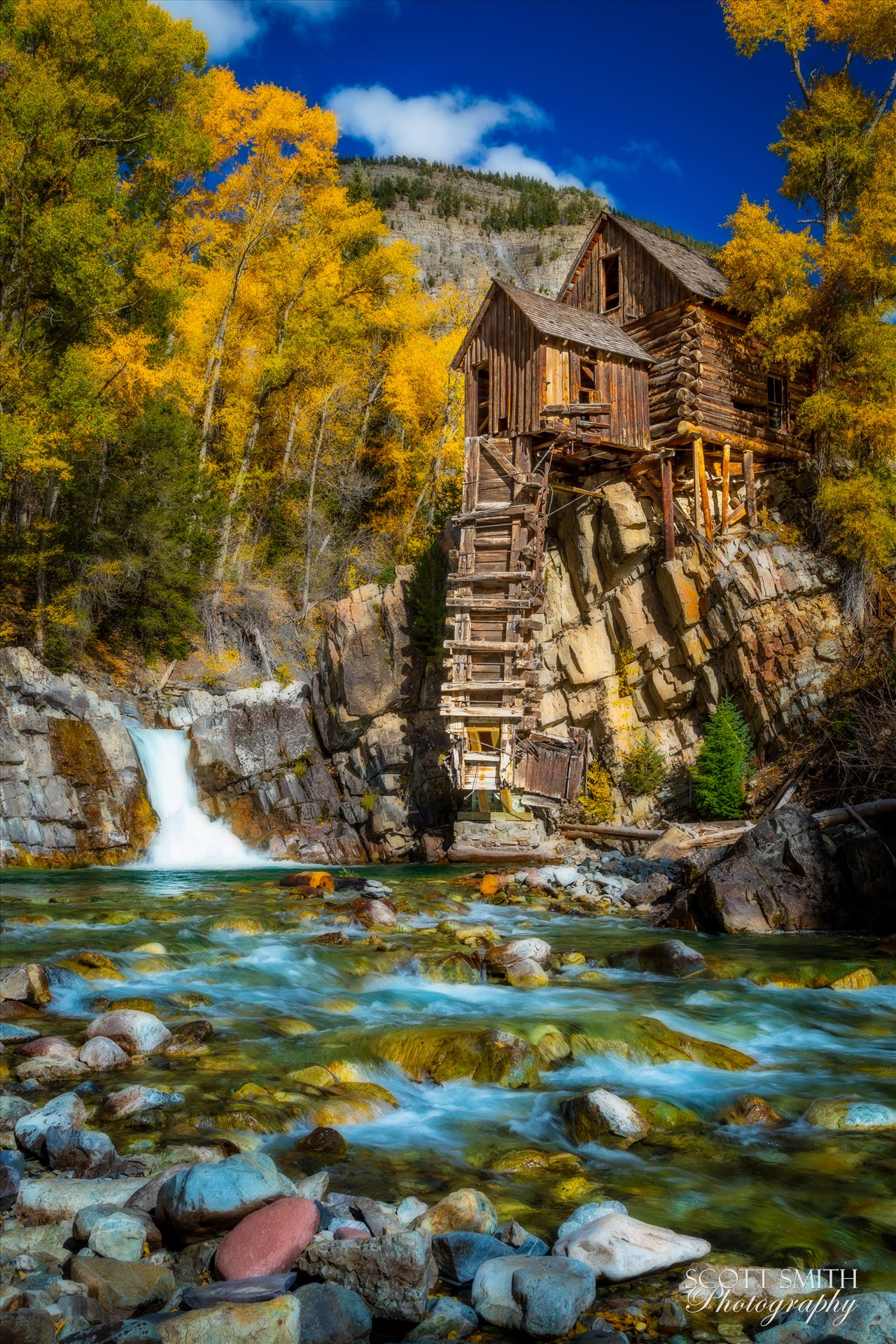 Crystal Mill, Colorado 11 - The Crystal Mill, or the Old Mill is an 1892 wooden powerhouse located on an outcrop above the Crystal River in Crystal, Colorado by D Scott Smith