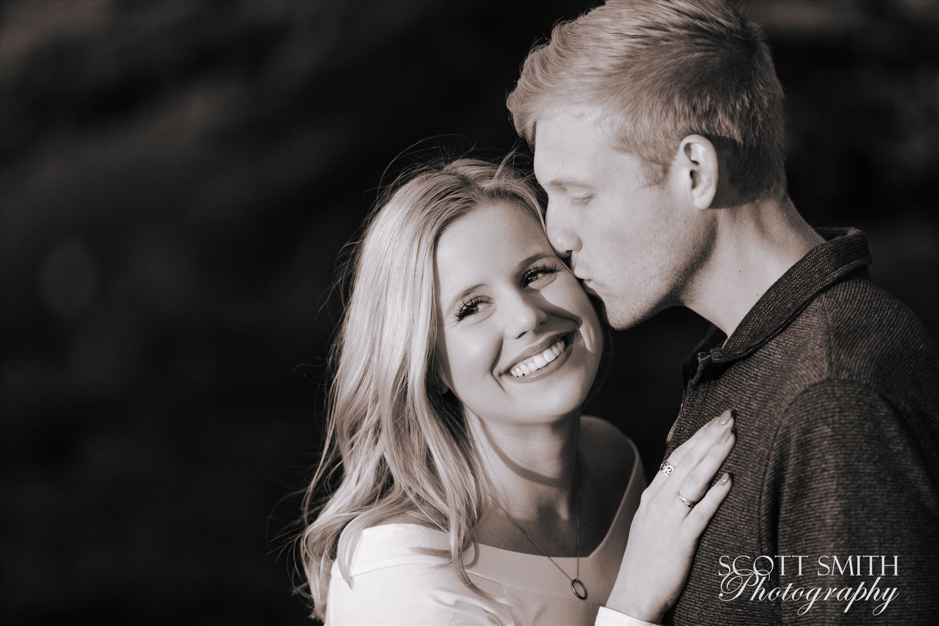 Joanna and Ryan 2 - Joanna and Ryan's engagement session at Spooner's Cover, California. by D Scott Smith