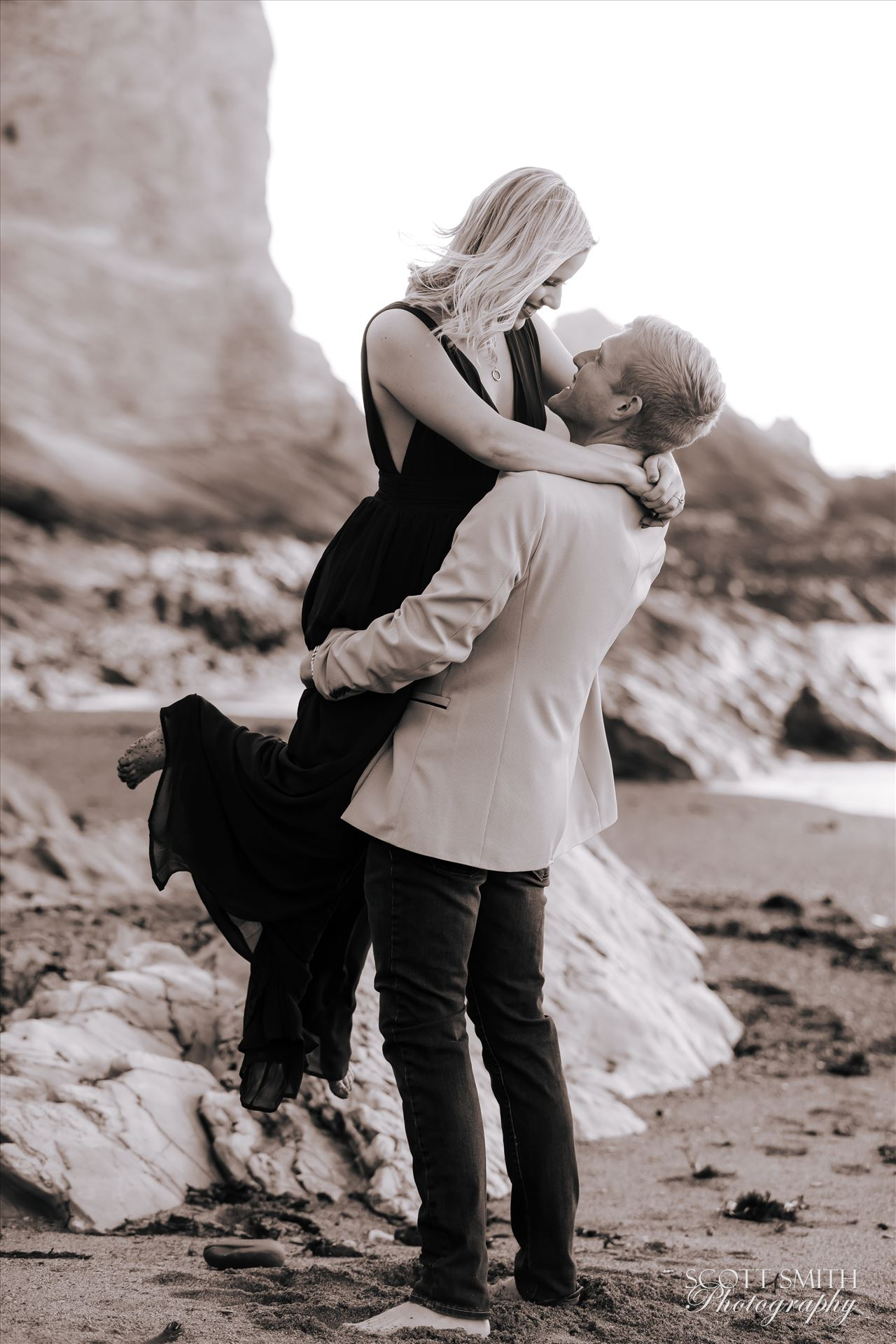 Joanna and Ryan 3 - Joanna and Ryan's engagement session at Spooner's Cover, California. by D Scott Smith