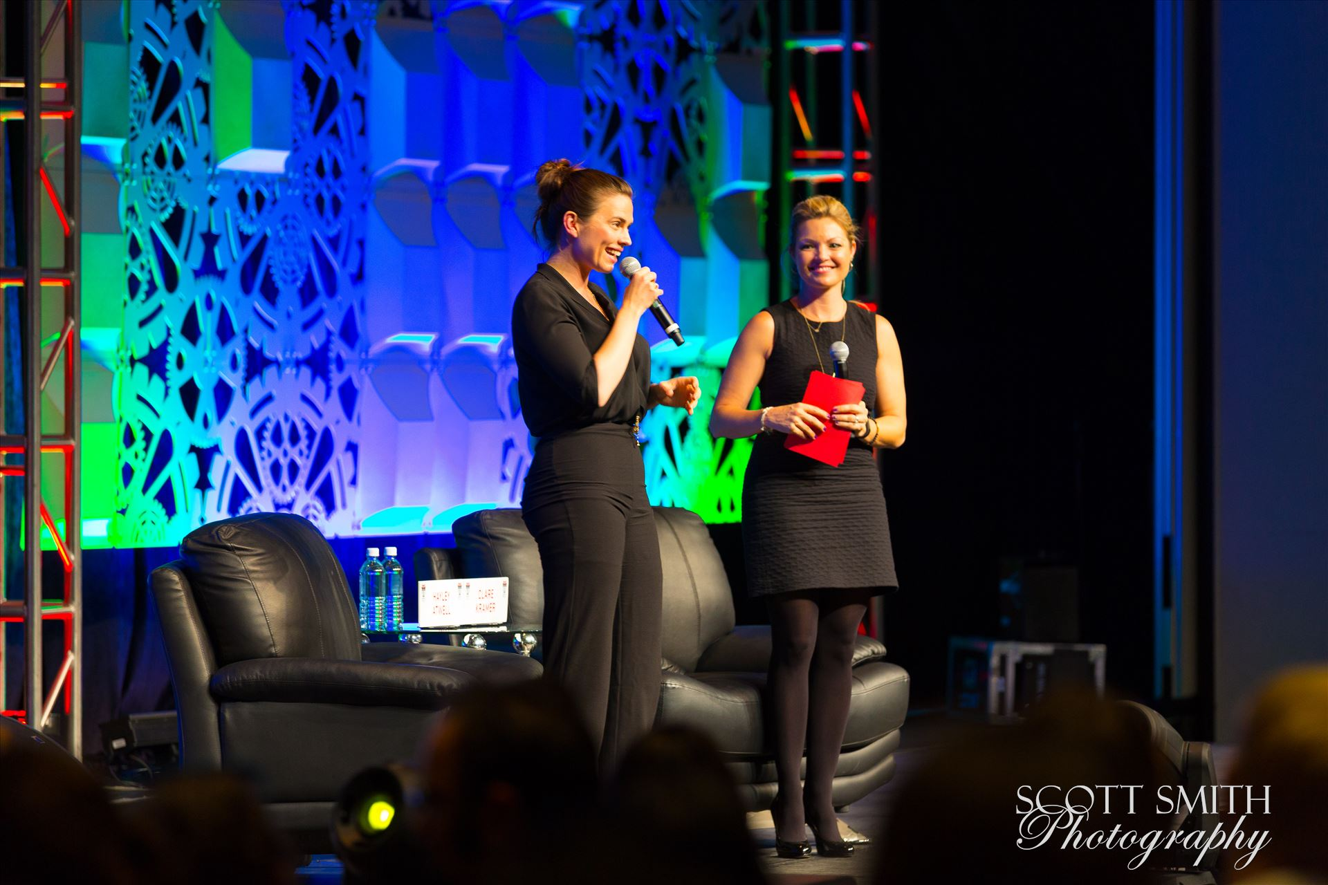 Denver Comic Con 2016 21 - Denver Comic Con 2016 at the Colorado Convention Center. Clare Kramer and Haley Atwell. by D Scott Smith