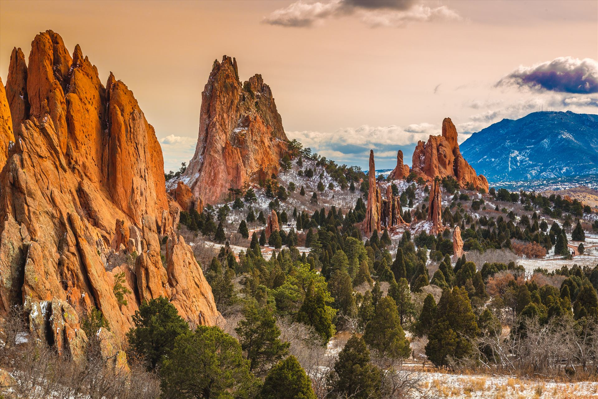 Garden of the Gods at Sunset -  by D Scott Smith