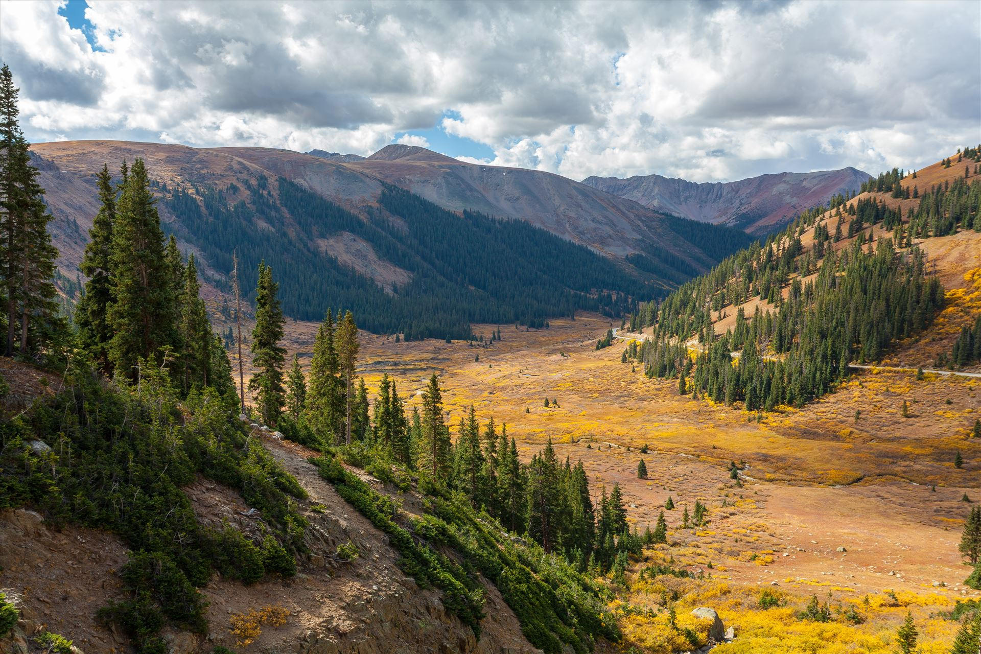Independence Valley in Fall - From Independence Pass, highway 82, Independence Valley is an amazing sight to see any time of year. by D Scott Smith