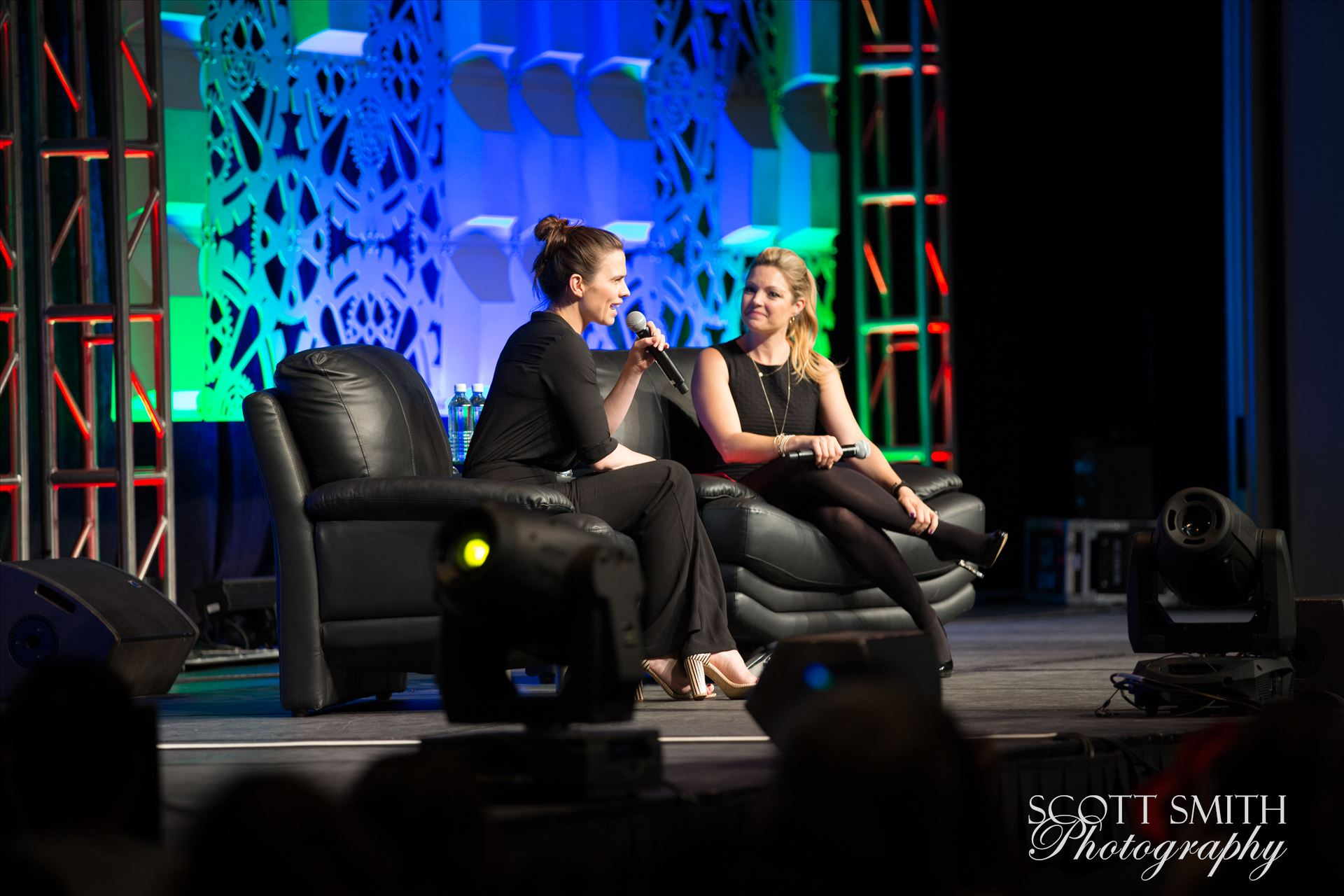 Denver Comic Con 2016 19 - Denver Comic Con 2016 at the Colorado Convention Center. Clare Kramer and Haley Atwell. by D Scott Smith