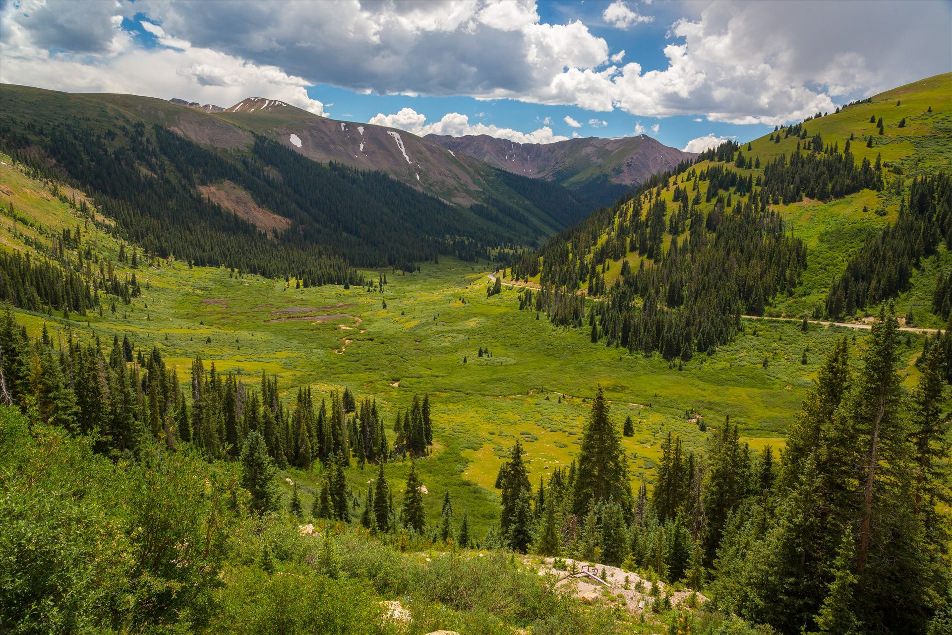 Independence Pass in Summer - From Independence Pass, highway 82, Independence Valley is an amazing sight to see any time of year. by D Scott Smith