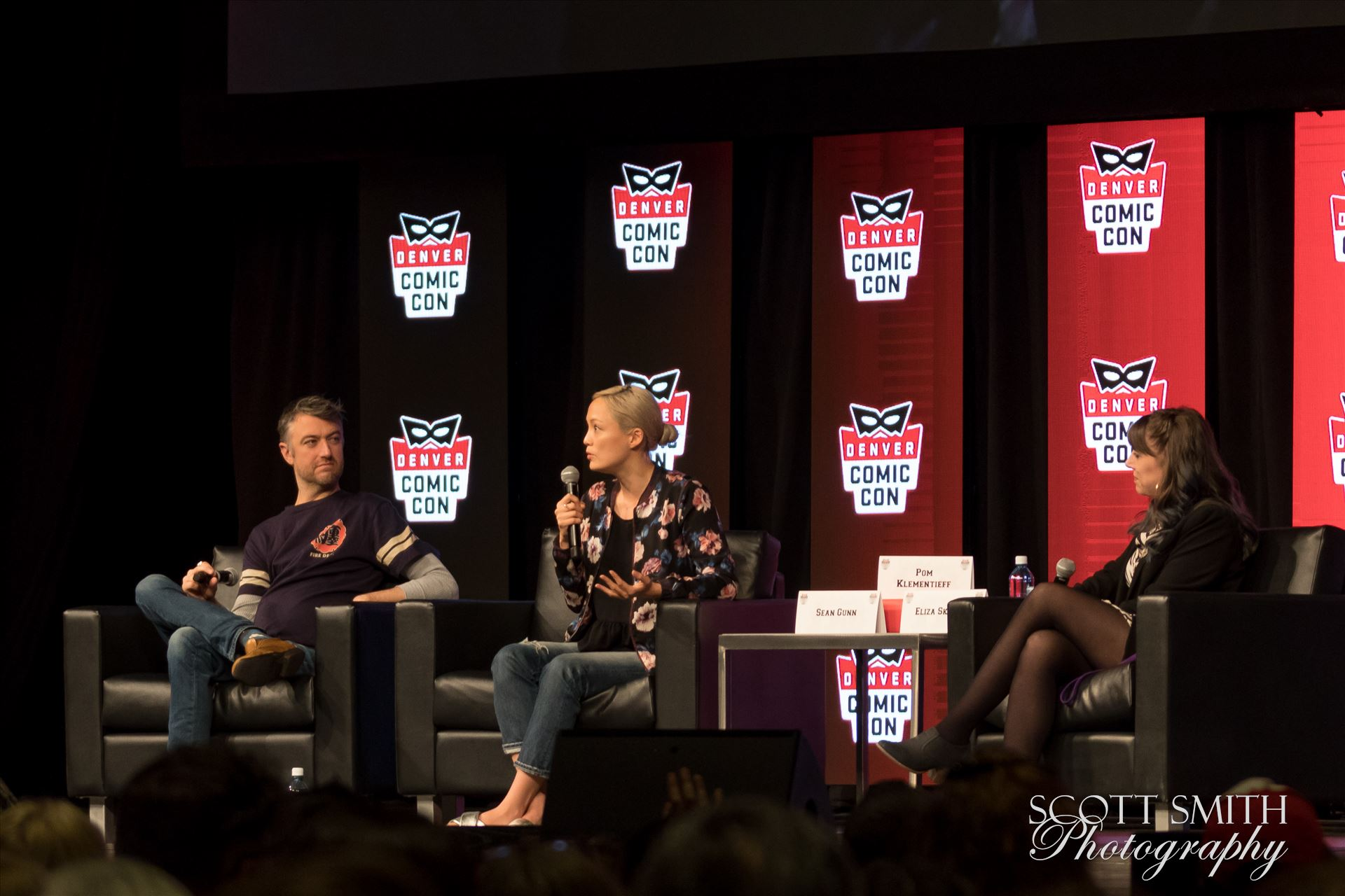 Guardians of the Galaxy's Sean Gunn and Pom Klementieff at Denver Comic Con 2018 -  by D Scott Smith