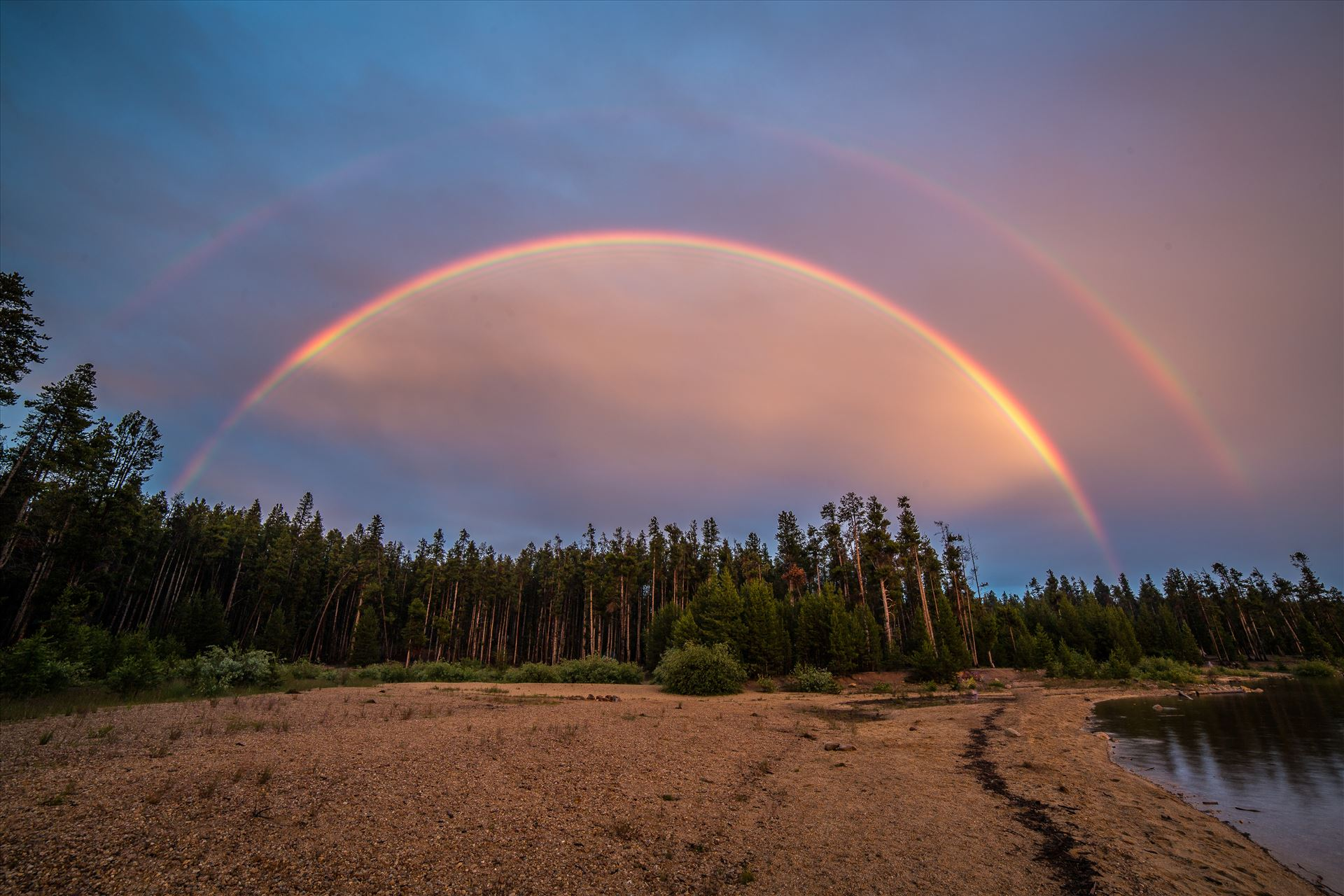 Double Rainbow at Turquoise Lake - A rare double Rainbow at Turqouise Lake , Colorado. by D Scott Smith
