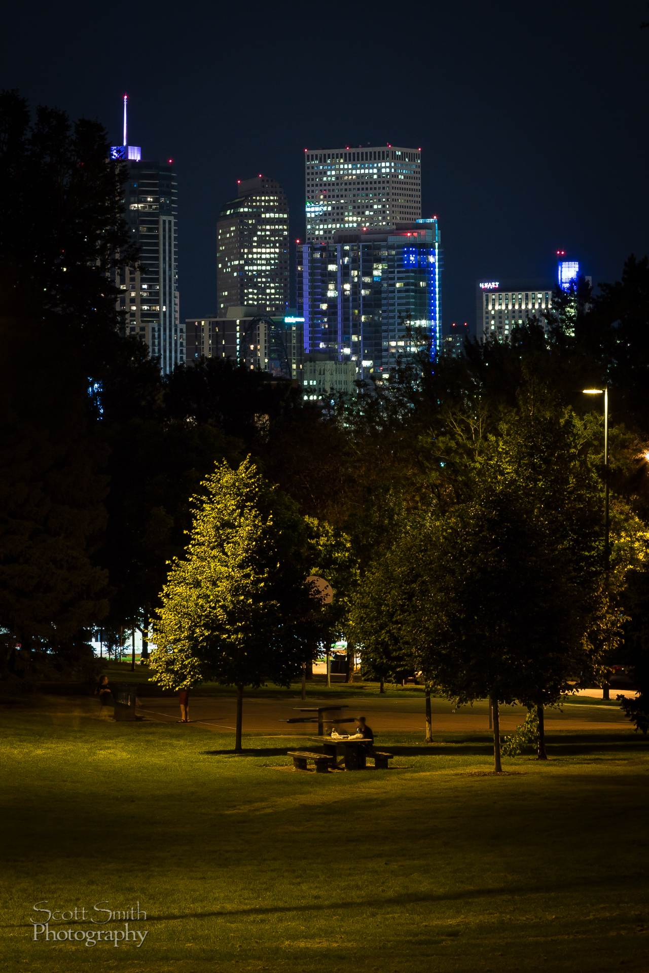 Downtown Denver from Jefferson Park -  by D Scott Smith