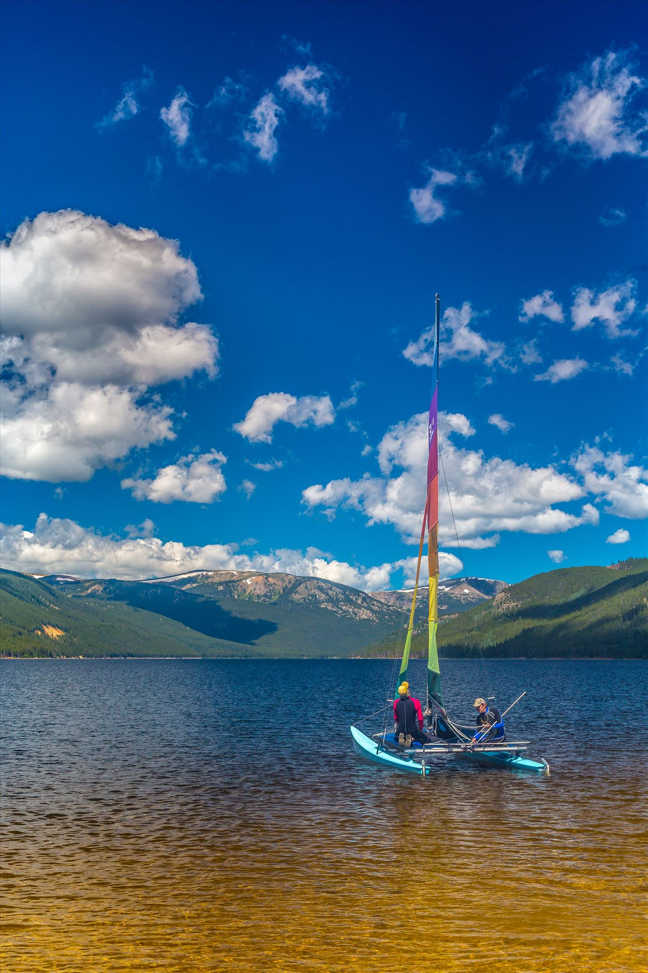 Sailing at Turquoise Lake - Sailing at Turqouise Lake, Leadville, Colorado. by D Scott Smith