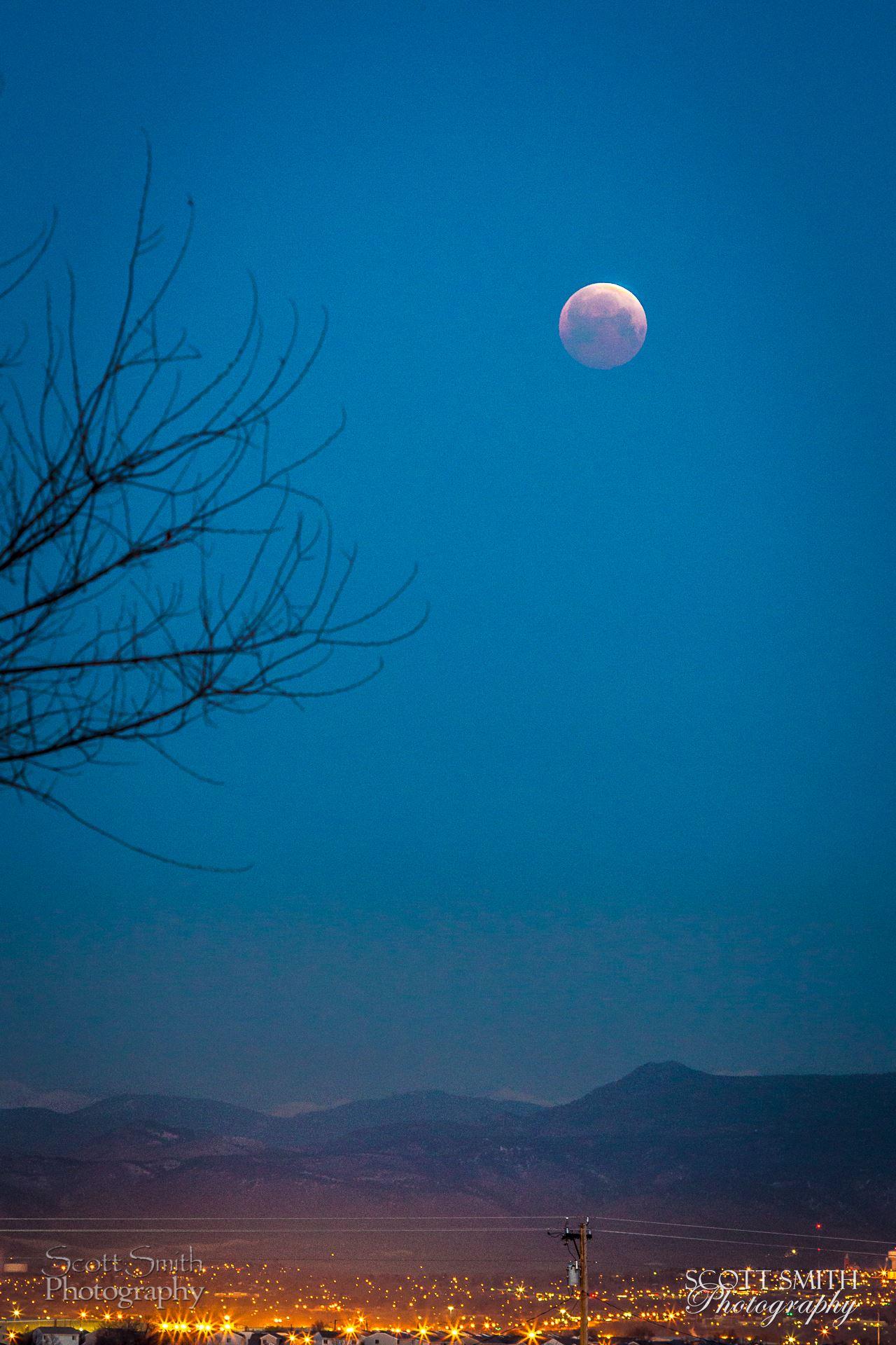 Lunar Eclipse, April 4 2015 8 - Lunar Eclipse ad blood moon, April 4 2015 from Denver, Colorado. by D Scott Smith