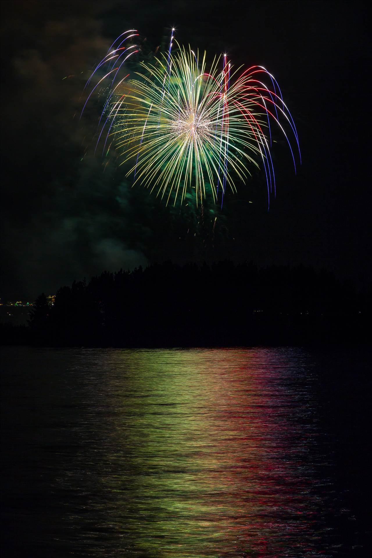 Dillon Reservoir Fireworks 2015 49 -  by D Scott Smith