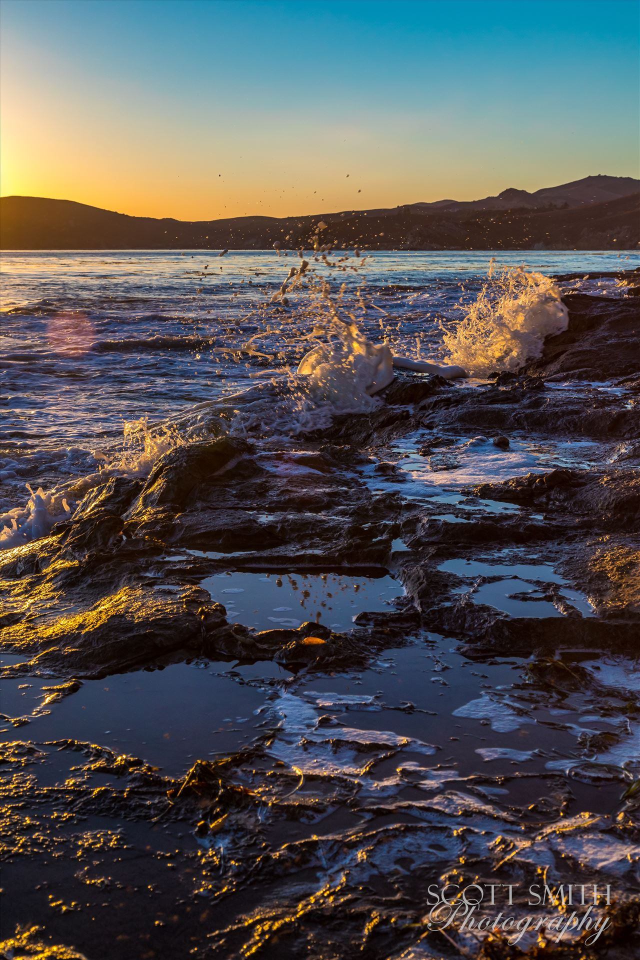 Sunset at Shell Beach 4 -  by D Scott Smith