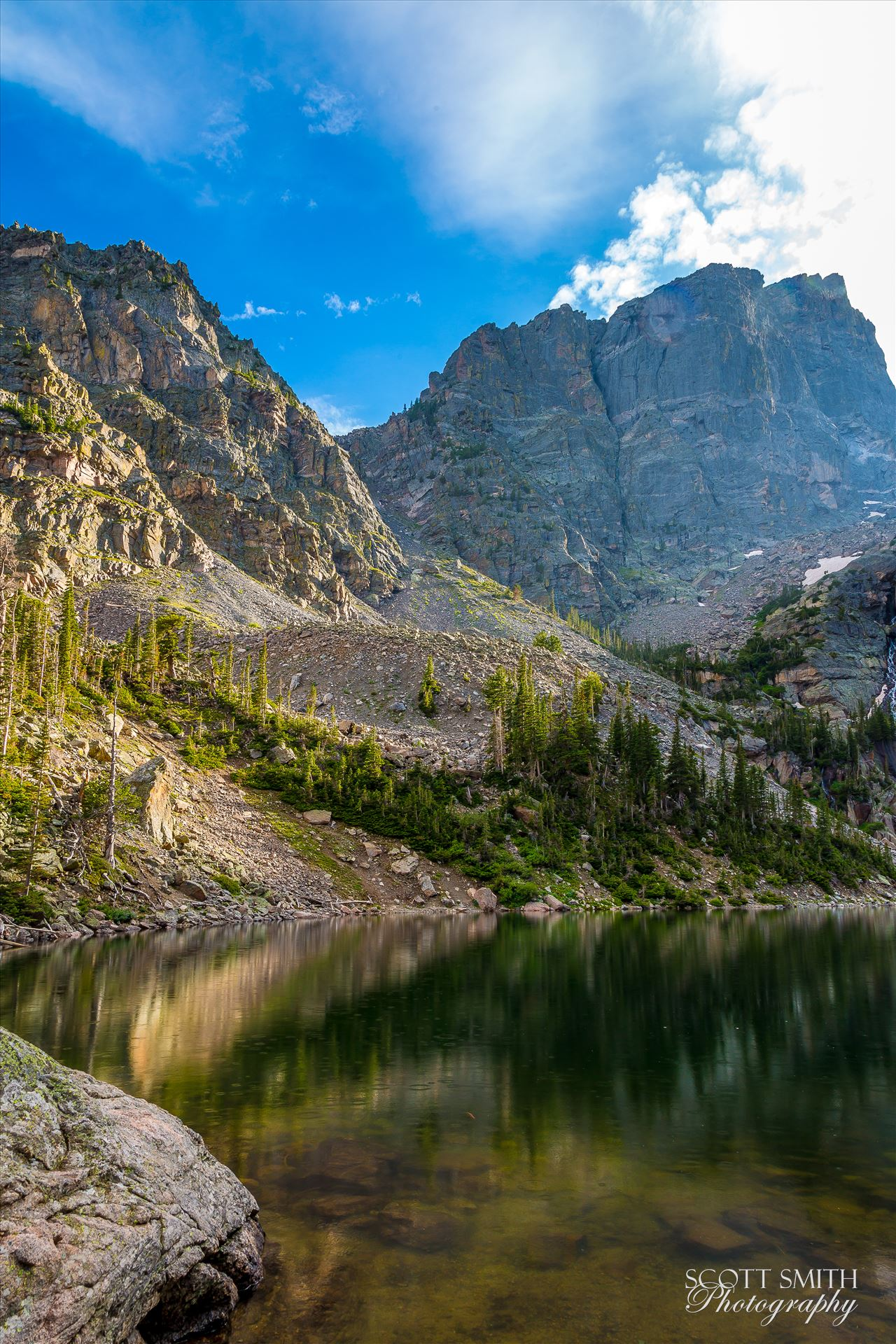Emerald Lake 2 - From Bear Lake Trail, Rocky Mountain National Park, outside of Estes Park, Colorado. by D Scott Smith