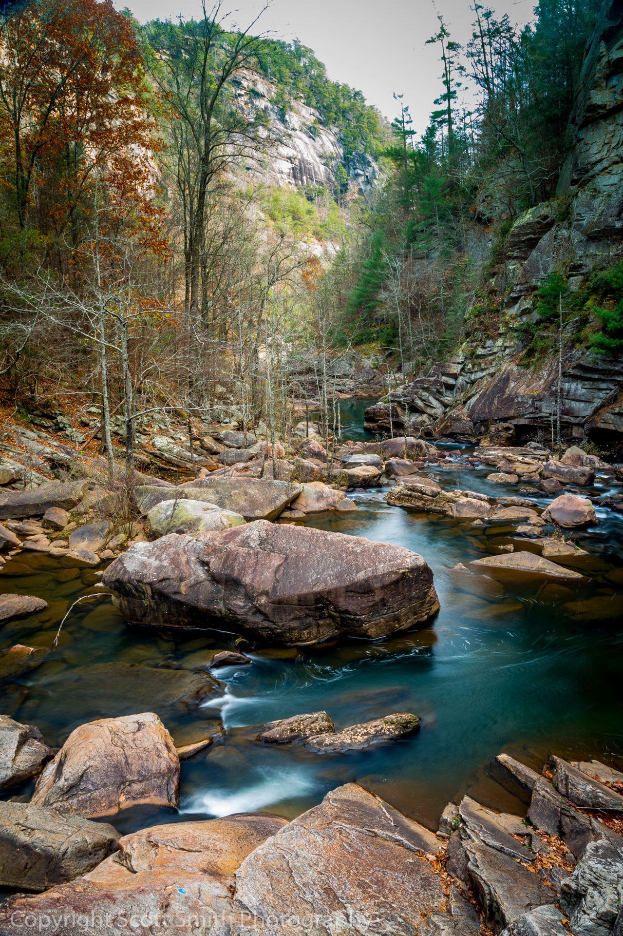 Tallulah Gorge Downstream -  by D Scott Smith