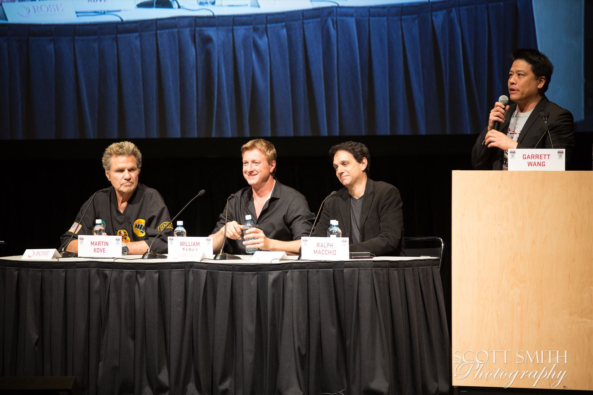 Denver Comic Con 2016 37 - Denver Comic Con 2016 at the Colorado Convention Center. Garrett Wang, Ralph Macchio, Martin Kove and William Zabka. by D Scott Smith