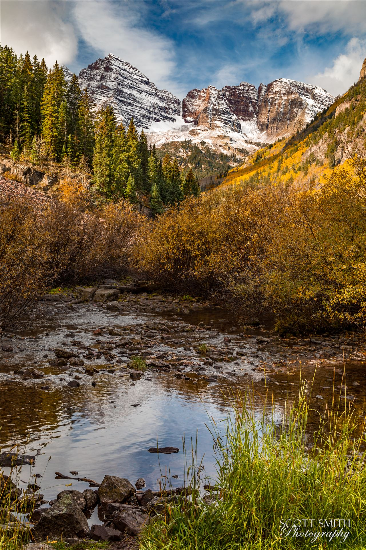 Maroon Bells 4 - The Maroon Bells, Saturday 9/29/17. by D Scott Smith