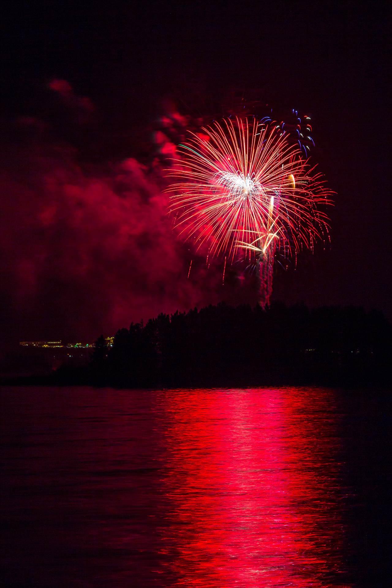 Dillon Reservoir Fireworks 2015 19 -  by D Scott Smith