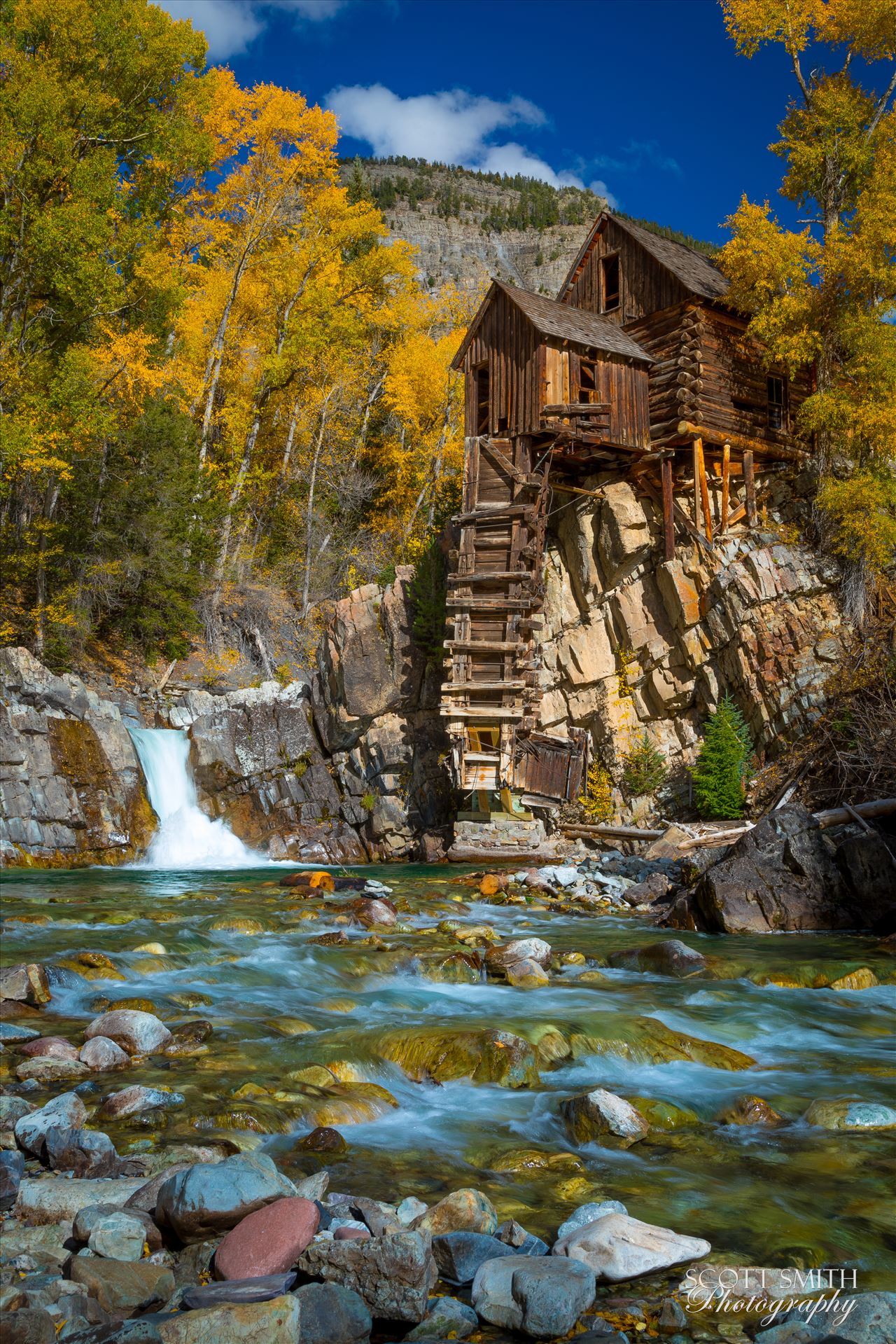 Crystal Mill, Colorado 08 - The Crystal Mill, or the Old Mill is an 1892 wooden powerhouse located on an outcrop above the Crystal River in Crystal, Colorado by D Scott Smith