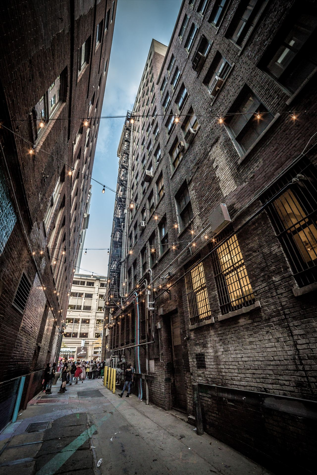 Denver Zombie Crawl 2015 17 - A back alley in Denver Colorado, during the 2015 Zombie Crawl. by D Scott Smith