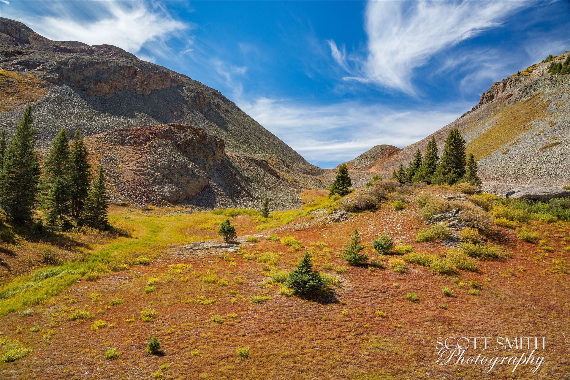 Ophir Pass Summit 2 - Near the summit of Ophir Pass, between Ouray and Silverton Colorado in the fall. by D Scott Smith
