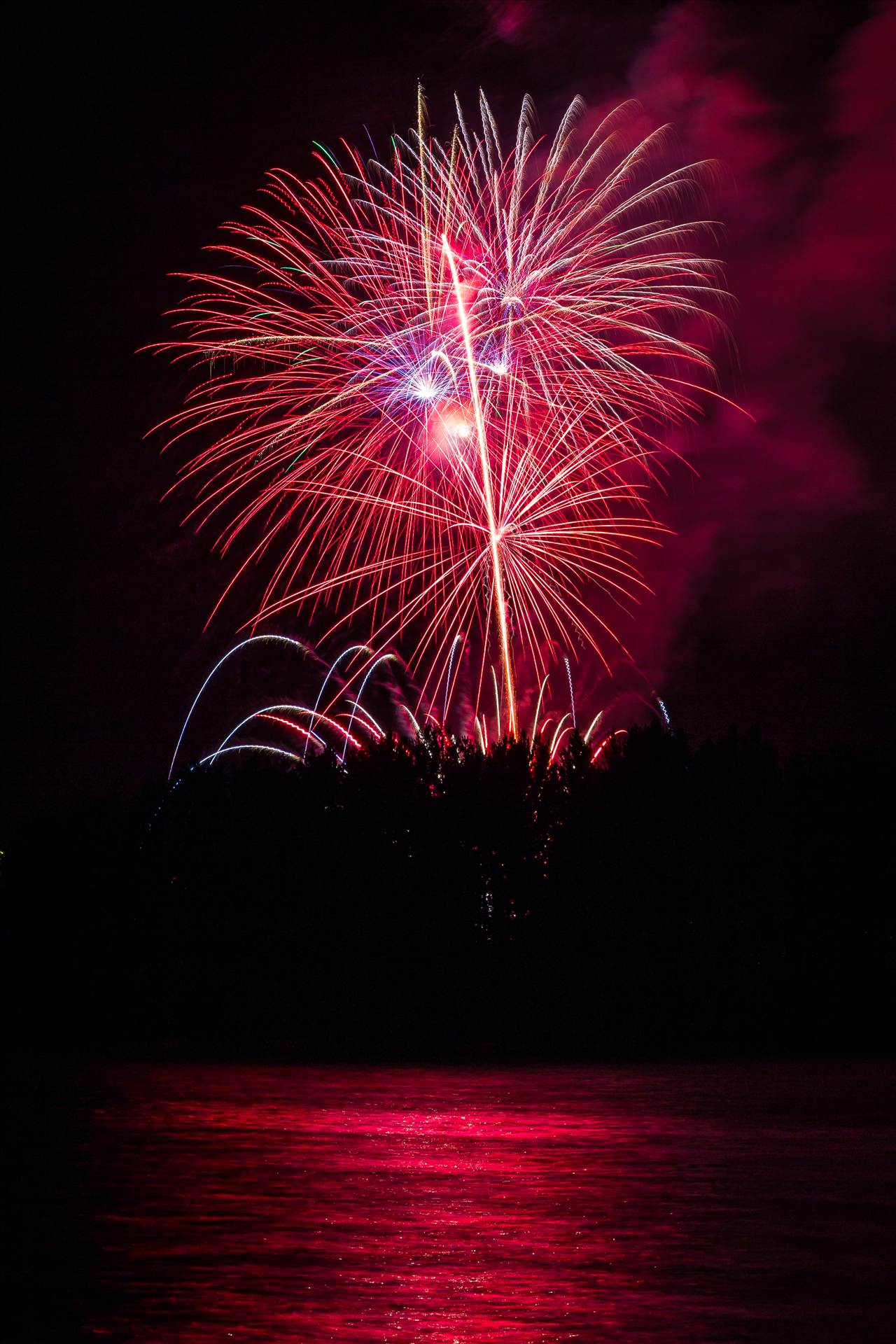 Dillon Reservoir Fireworks 2015 58 -  by D Scott Smith