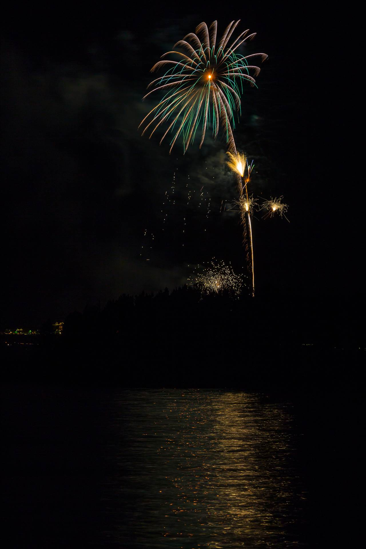 Dillon Reservoir Fireworks 2015 36 -  by D Scott Smith