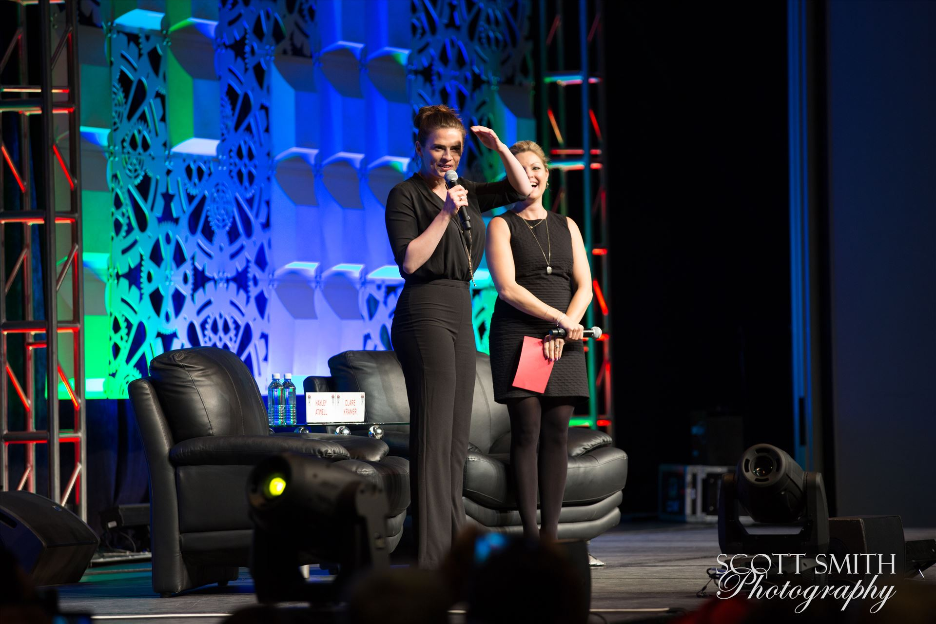 Denver Comic Con 2016 16 - Denver Comic Con 2016 at the Colorado Convention Center. Clare Kramer and Haley Atwell. by D Scott Smith