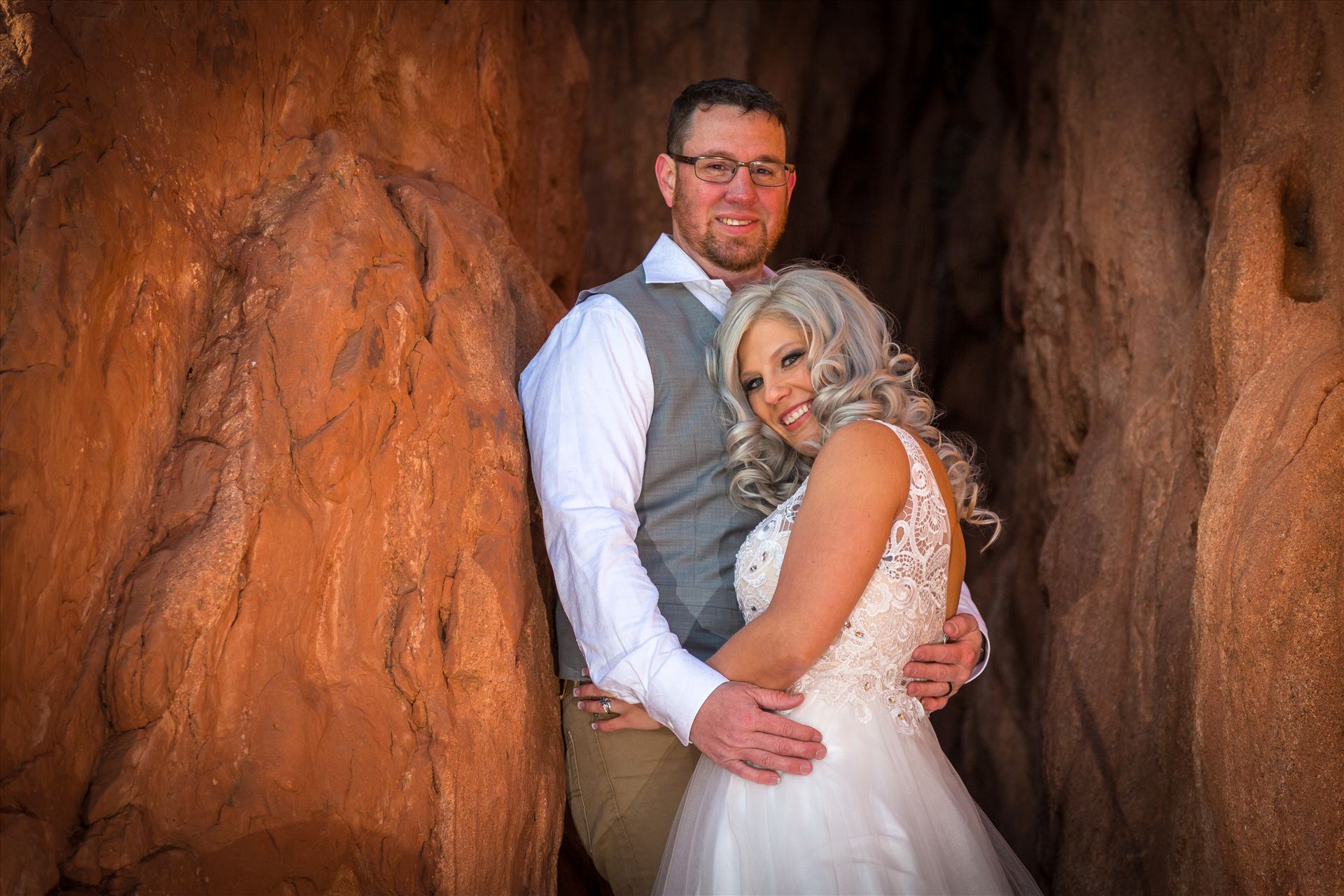 Wedding Photography - Joe and Jen in the Garden of the Gods